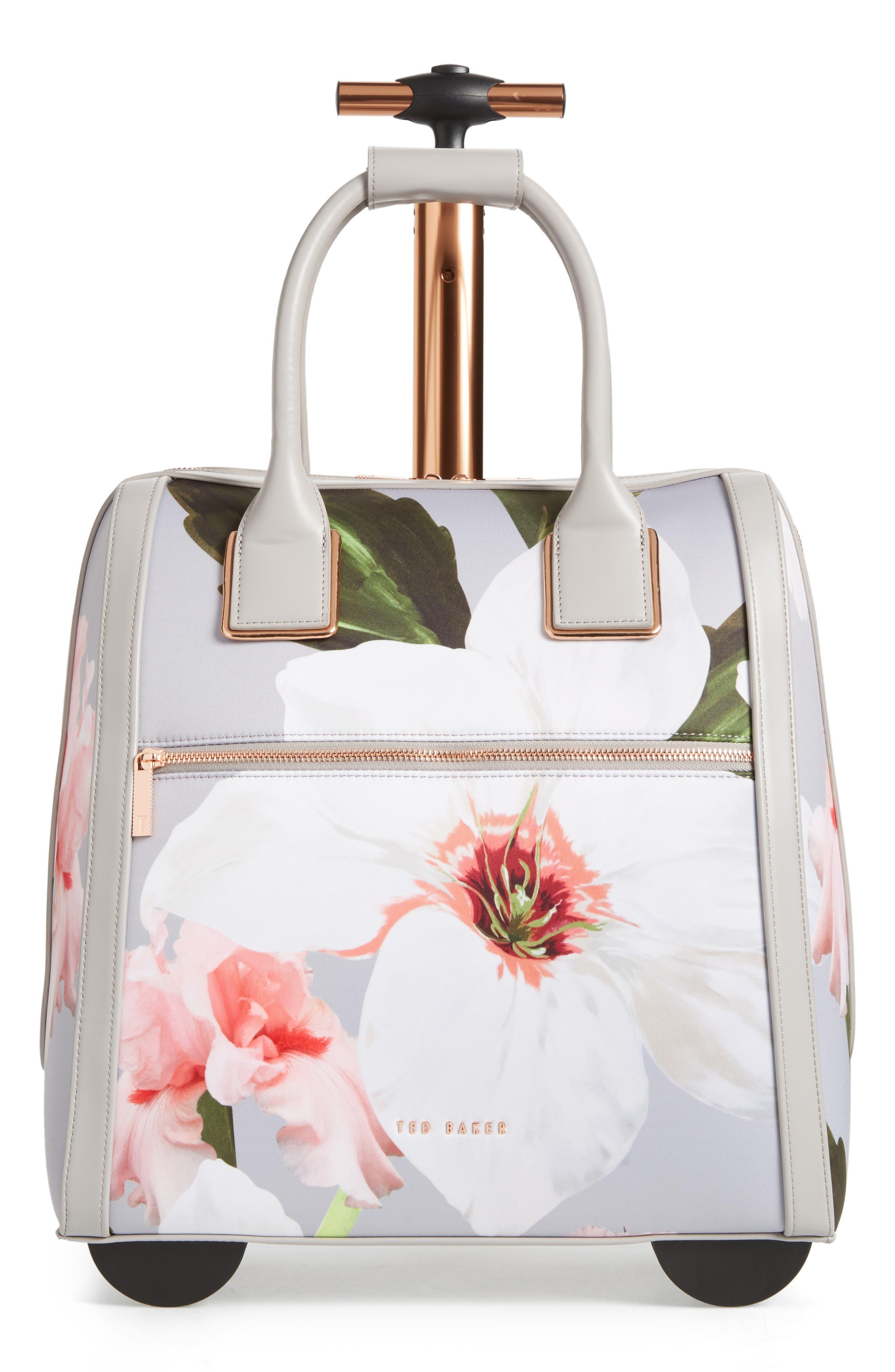 Ordina Chatsworth Bloom Travel Bag,                             Main thumbnail 1, color,                             Mid Grey