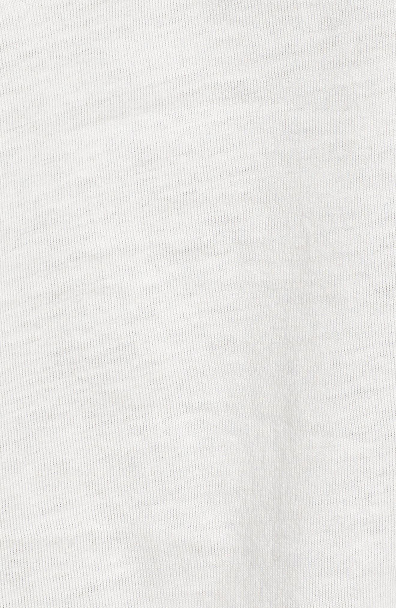 Smiley Ringer Tee,                             Alternate thumbnail 6, color,                             Vintage White