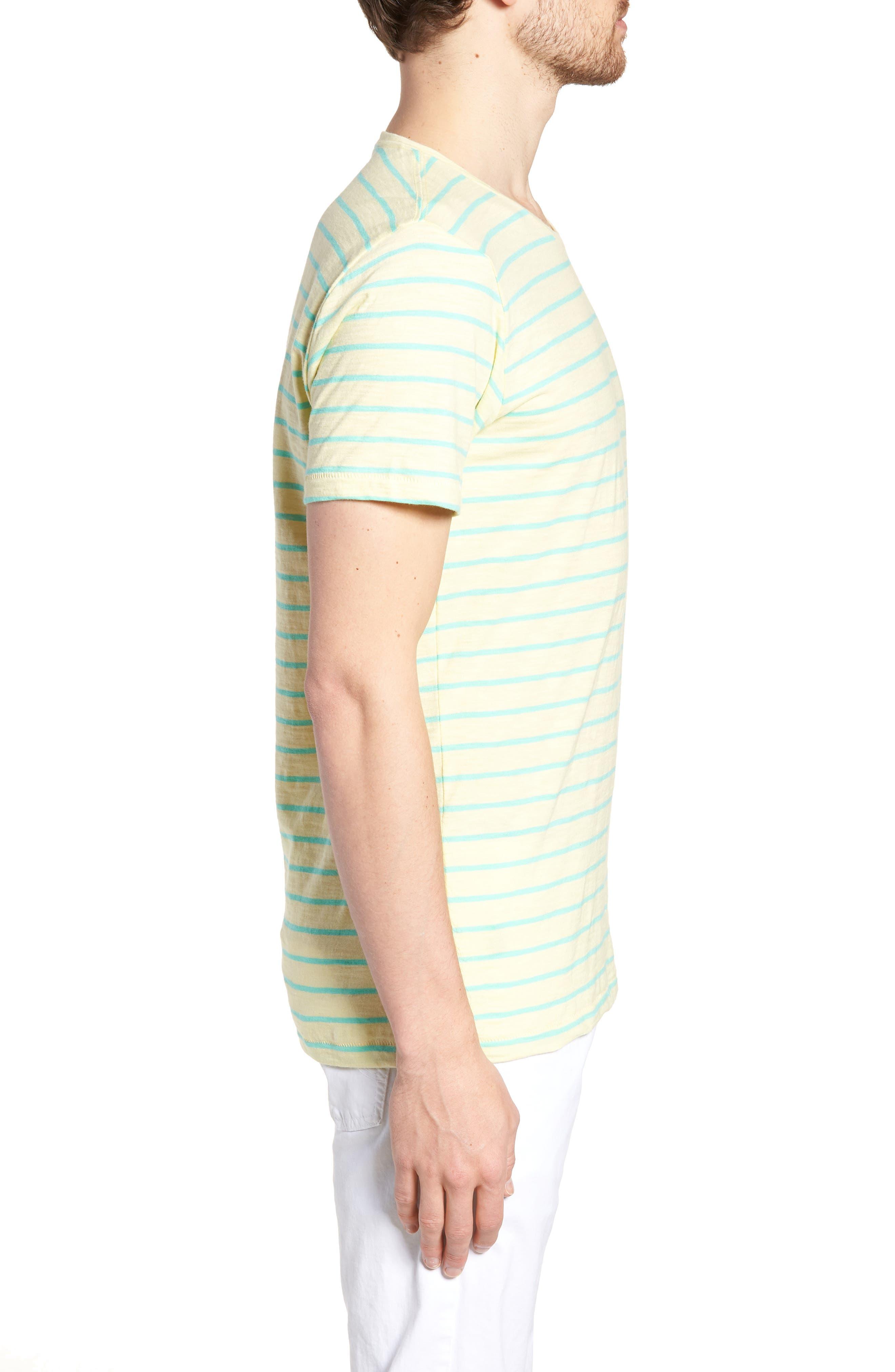 Stripe T-Shirt,                             Alternate thumbnail 3, color,                             Cactus Stripe