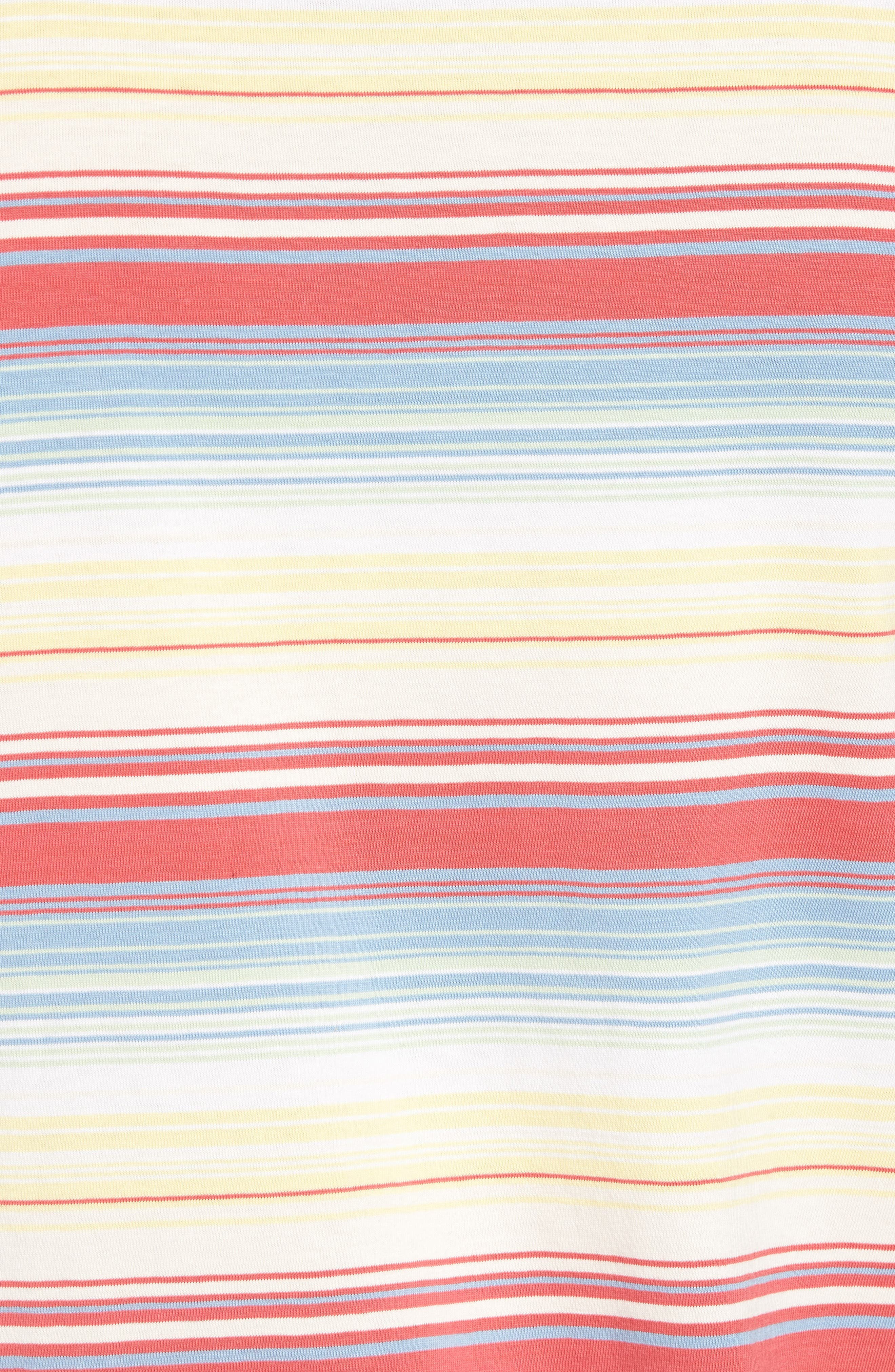 Set-In Sunset Pocket T-Shirt,                             Alternate thumbnail 5, color,                             Fiesta Stripe