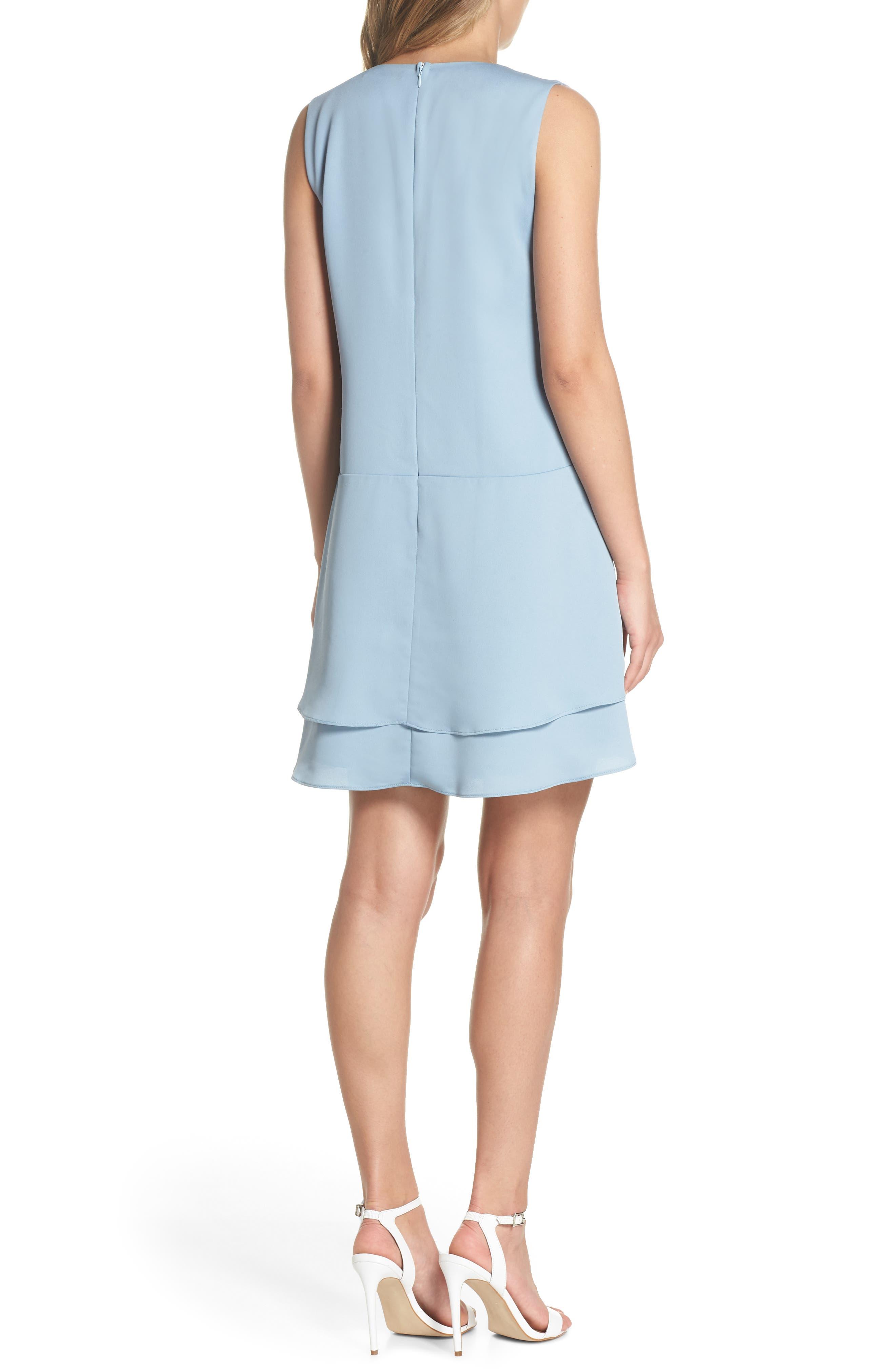 Florence V-Neck Minidress,                             Alternate thumbnail 2, color,                             Allure Blue