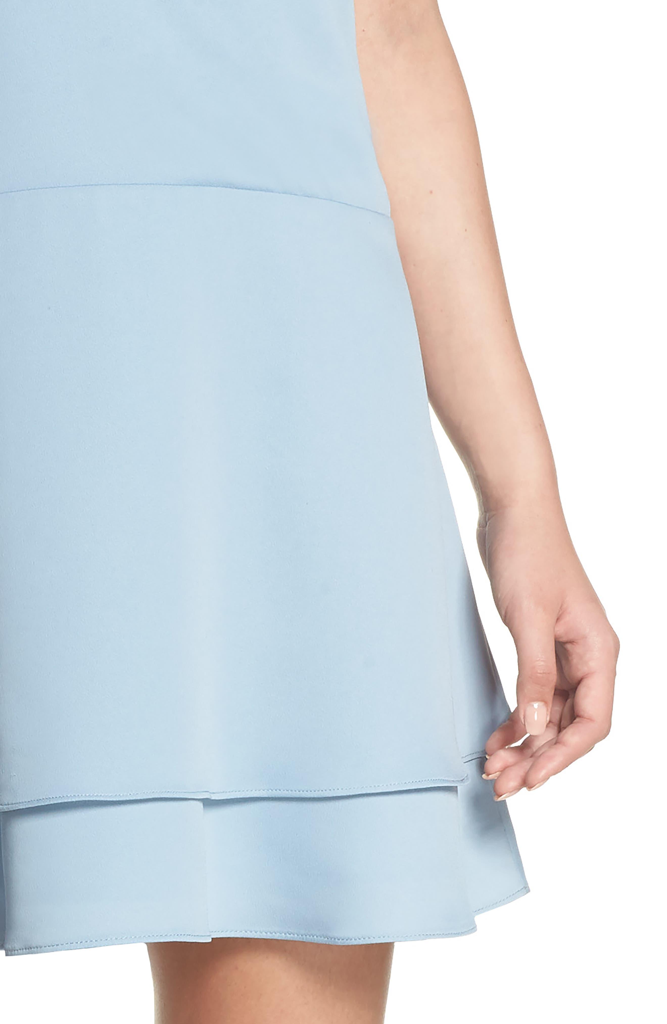 Florence V-Neck Minidress,                             Alternate thumbnail 4, color,                             Allure Blue