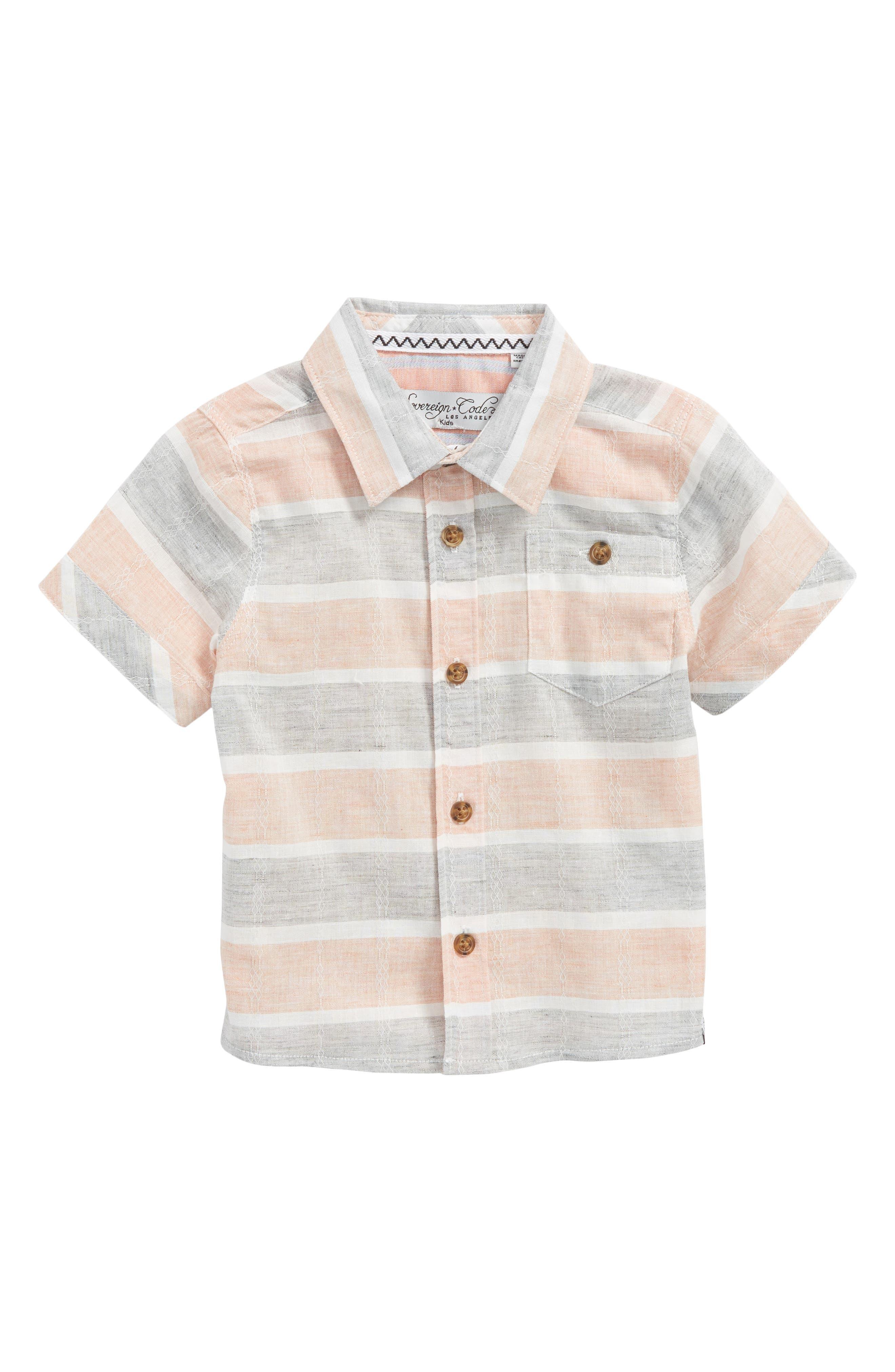 Main Image - Sovereign Code Stripe Woven Shirt (Baby Boys)