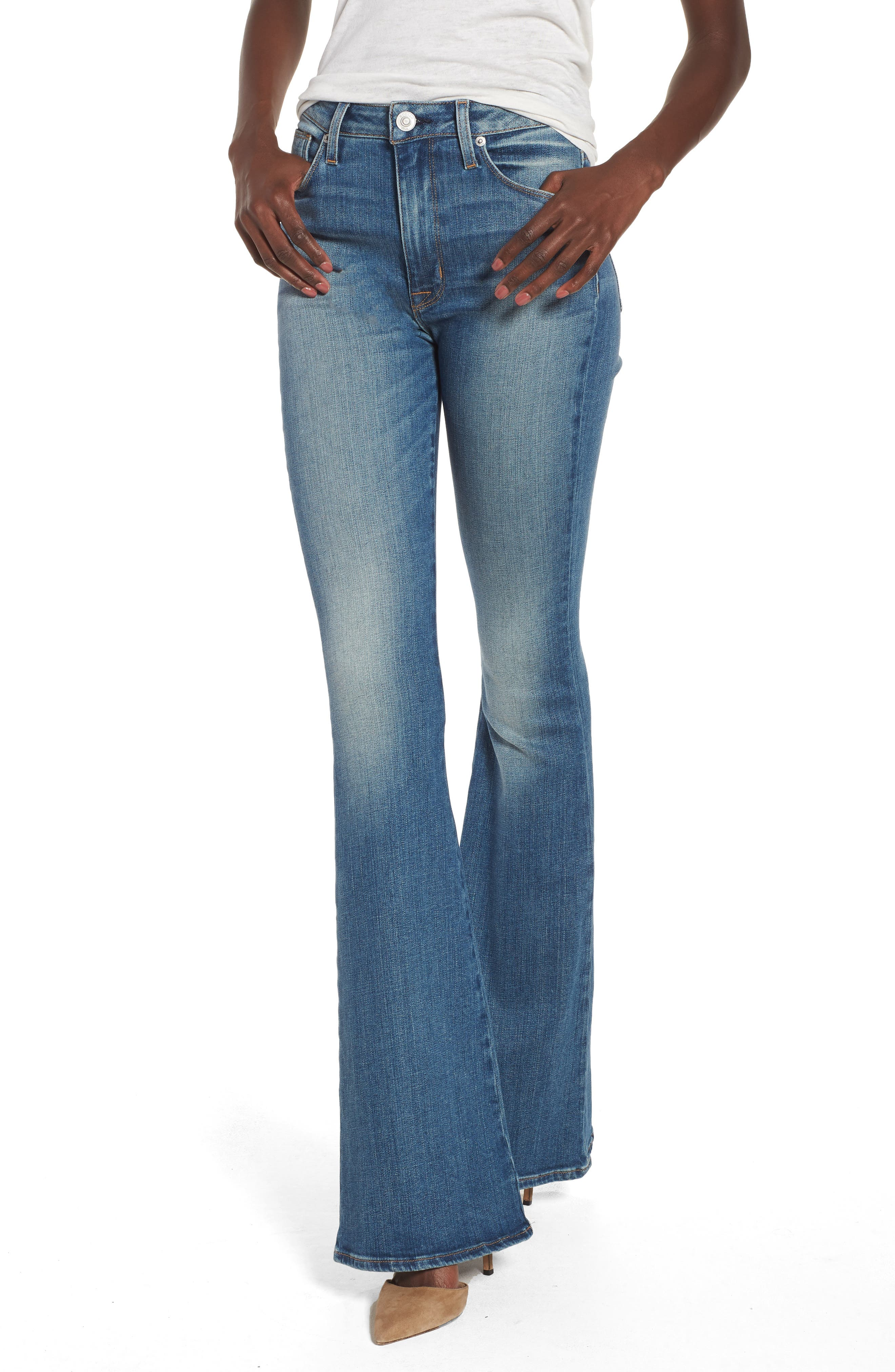 Holly High Waist Flare Jeans,                             Main thumbnail 1, color,                             First Date