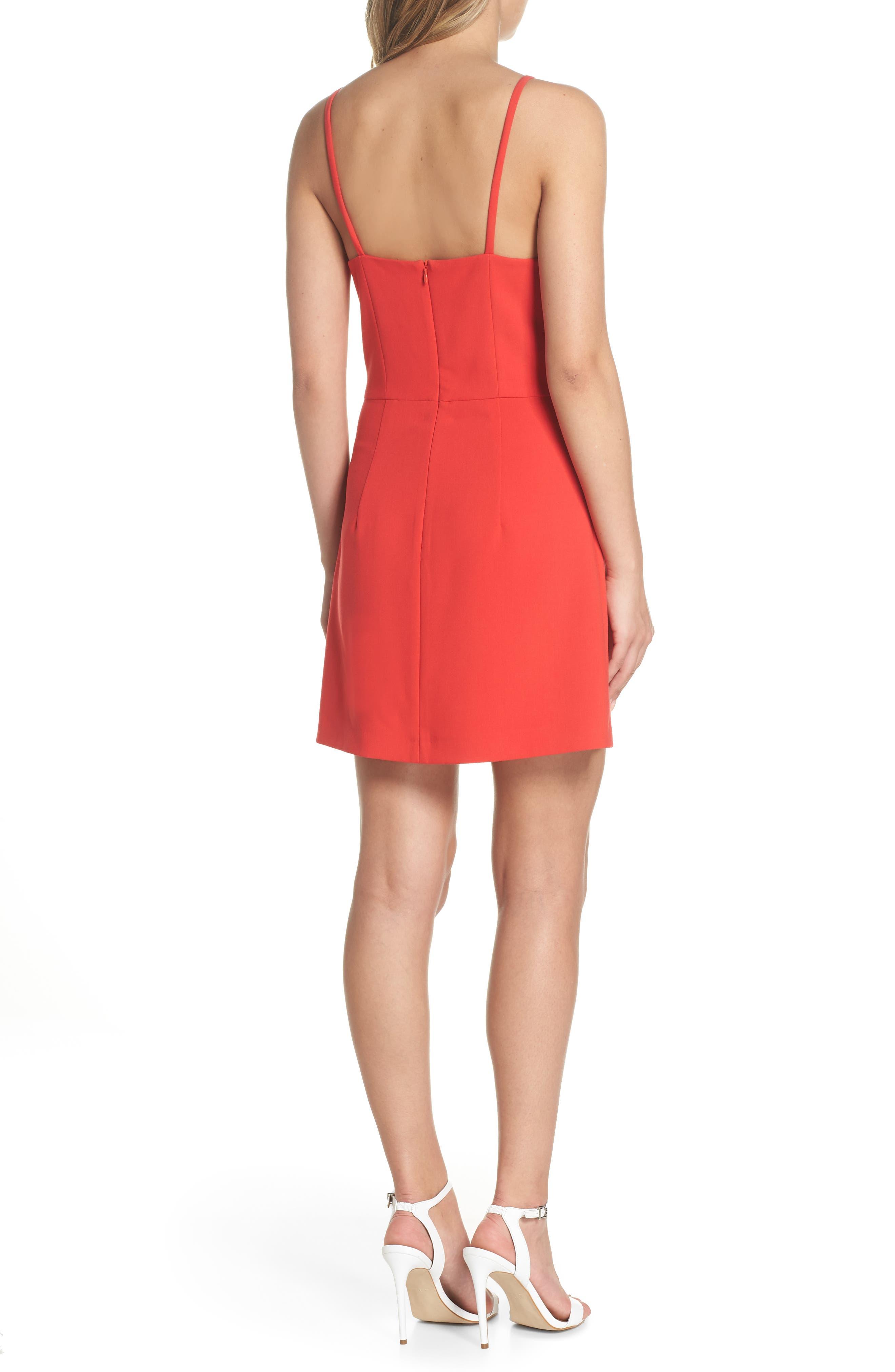 Whisper Light Sheath Dress,                             Alternate thumbnail 2, color,                             Shanghai Red