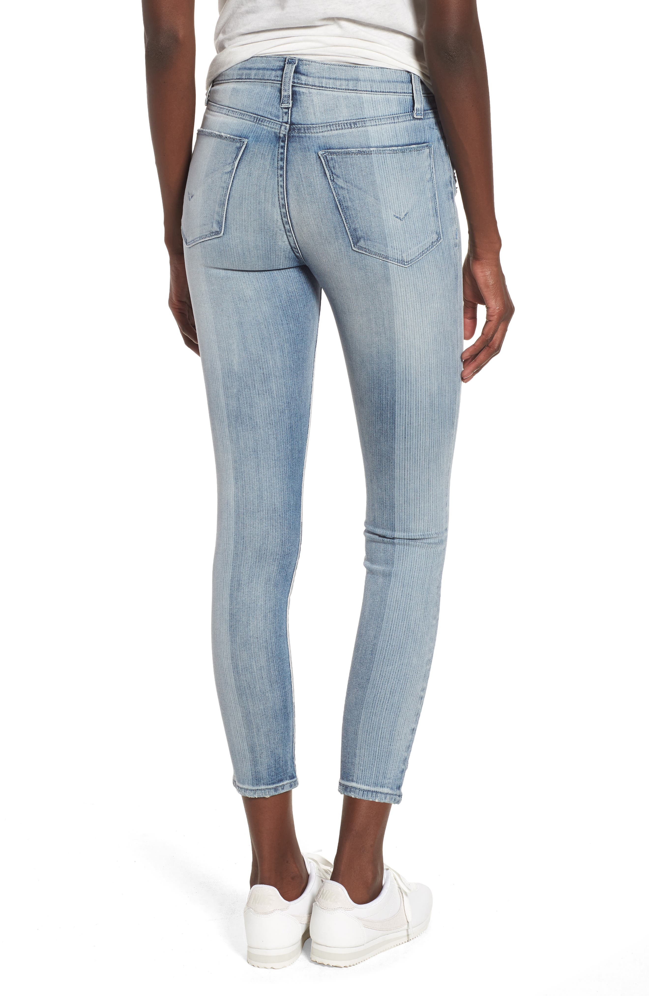 Barbara High Waist Crop Skinny Jeans,                             Alternate thumbnail 2, color,                             Purest Expression