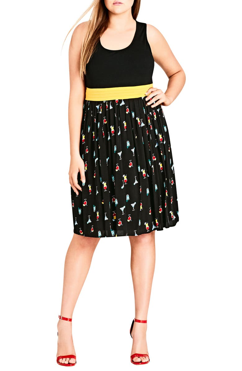 Cocktail Time Fit  Flare Dress Dress