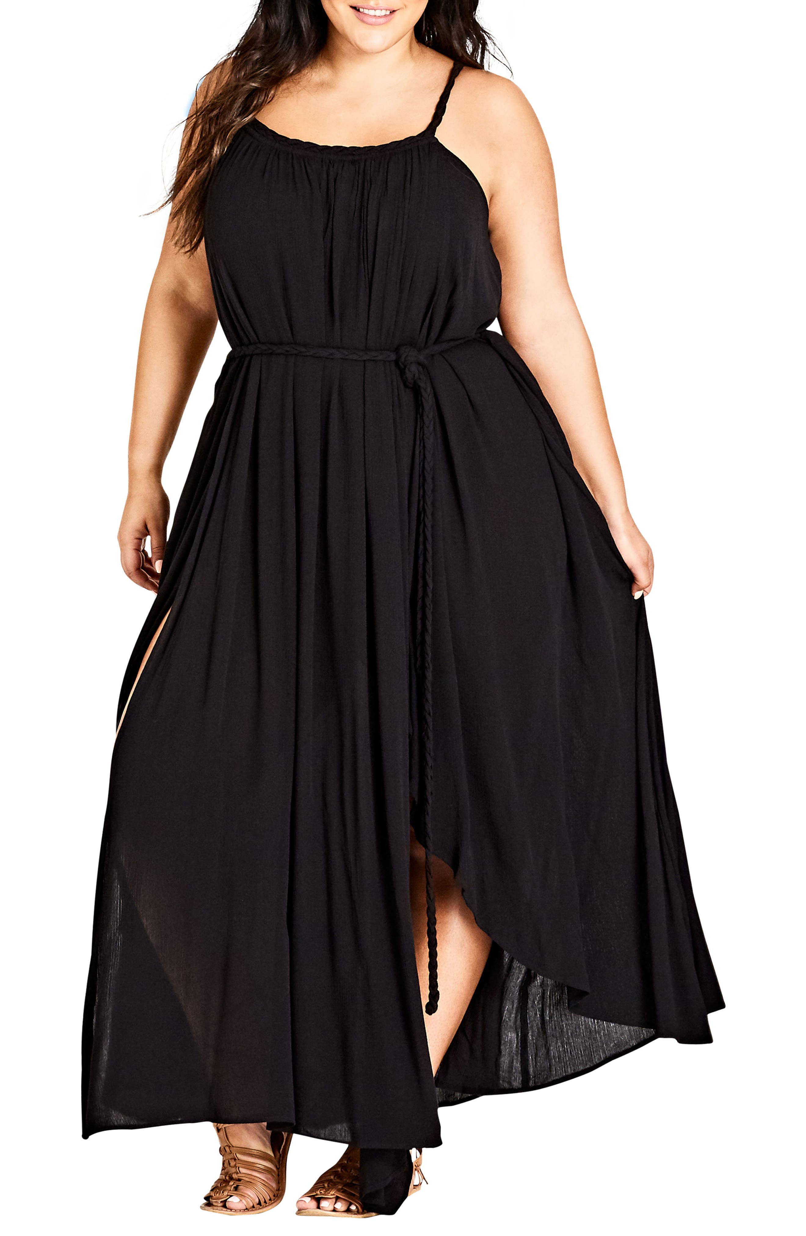 Main Image - City Chic Happy Feels Maxi Dress (Plus Size)