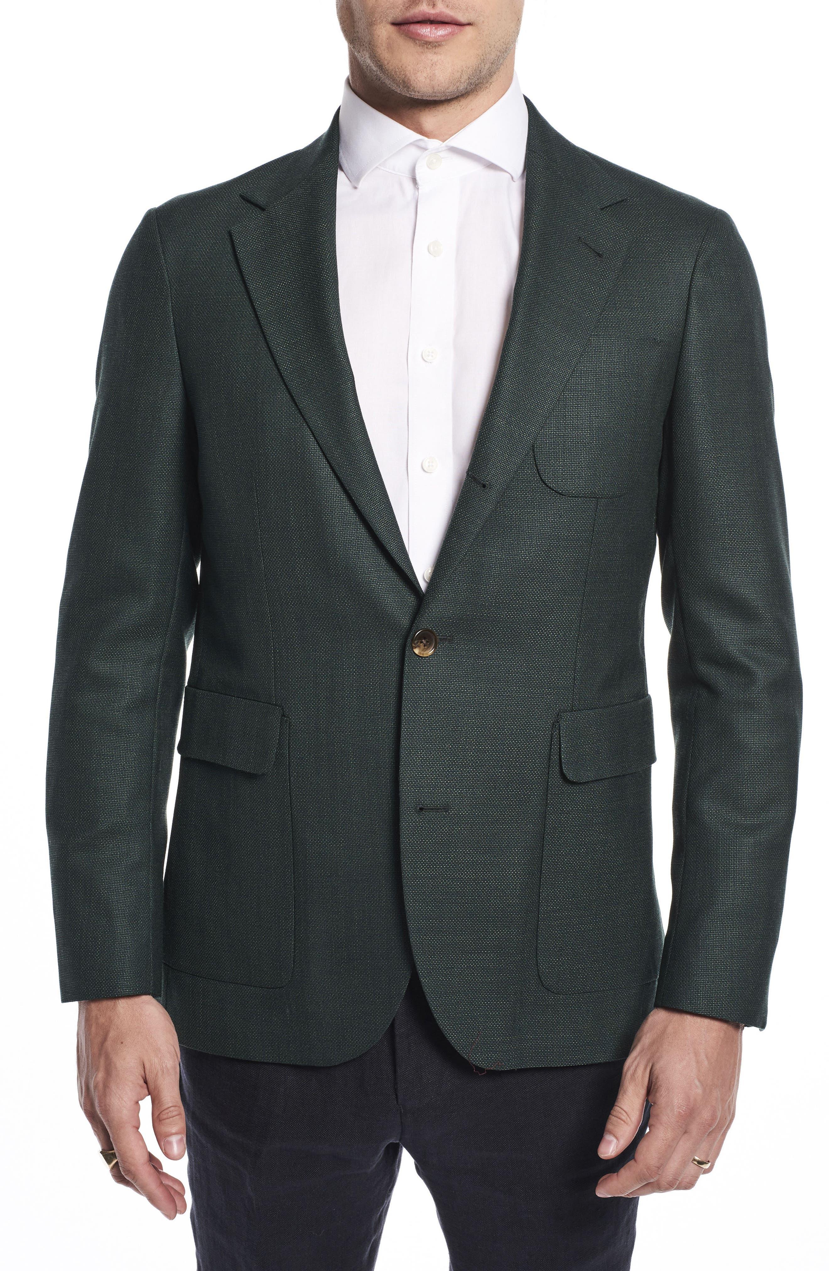 Main Image - Strong Suit by Ilaria Urbinati Ignatius Slim Fit Wool Blazer (Nordstrom Exclusive)