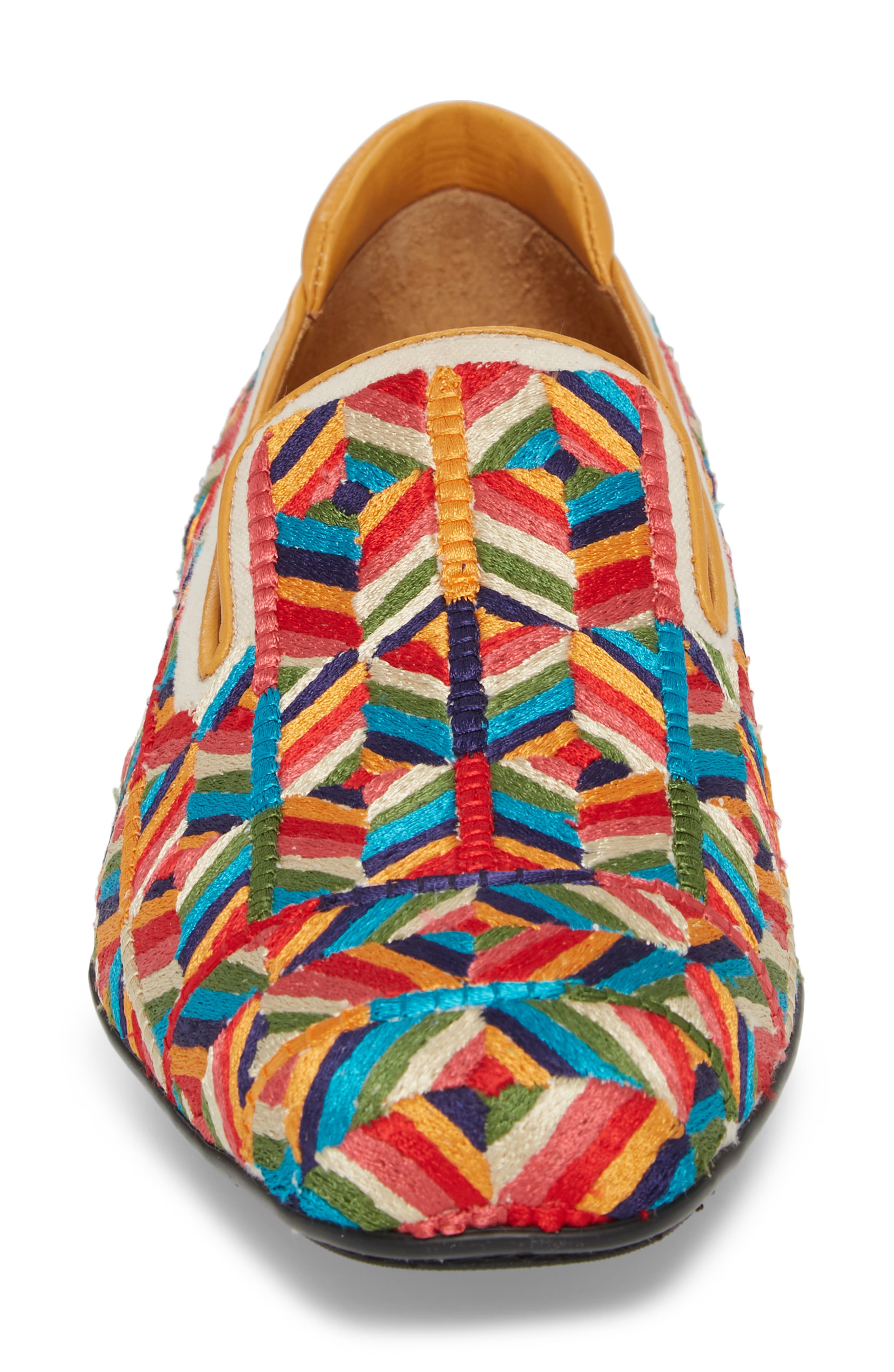 Verge Venetian Loafer,                             Alternate thumbnail 4, color,                             Yellow Fabric