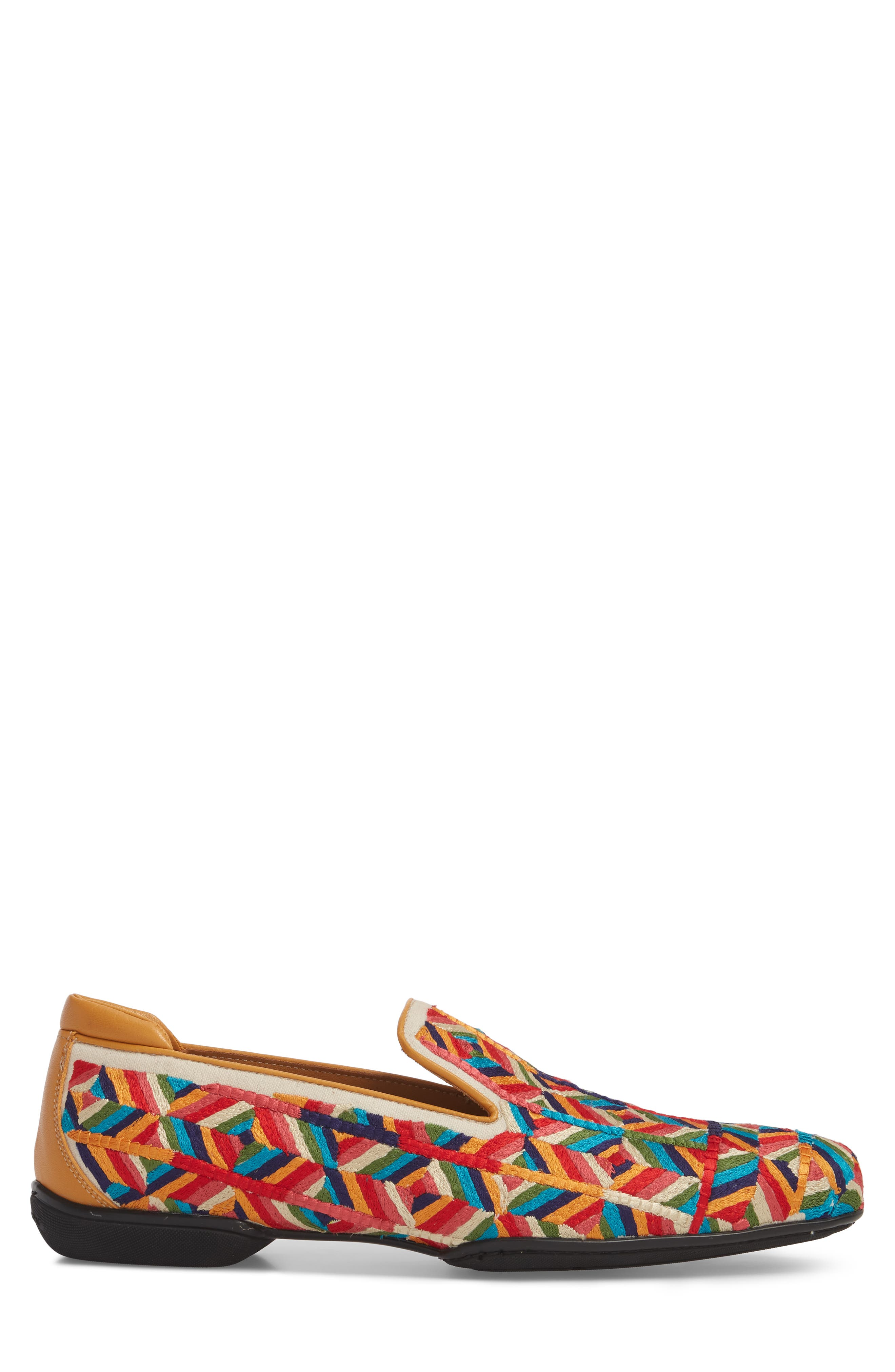Verge Venetian Loafer,                             Alternate thumbnail 3, color,                             Yellow Fabric