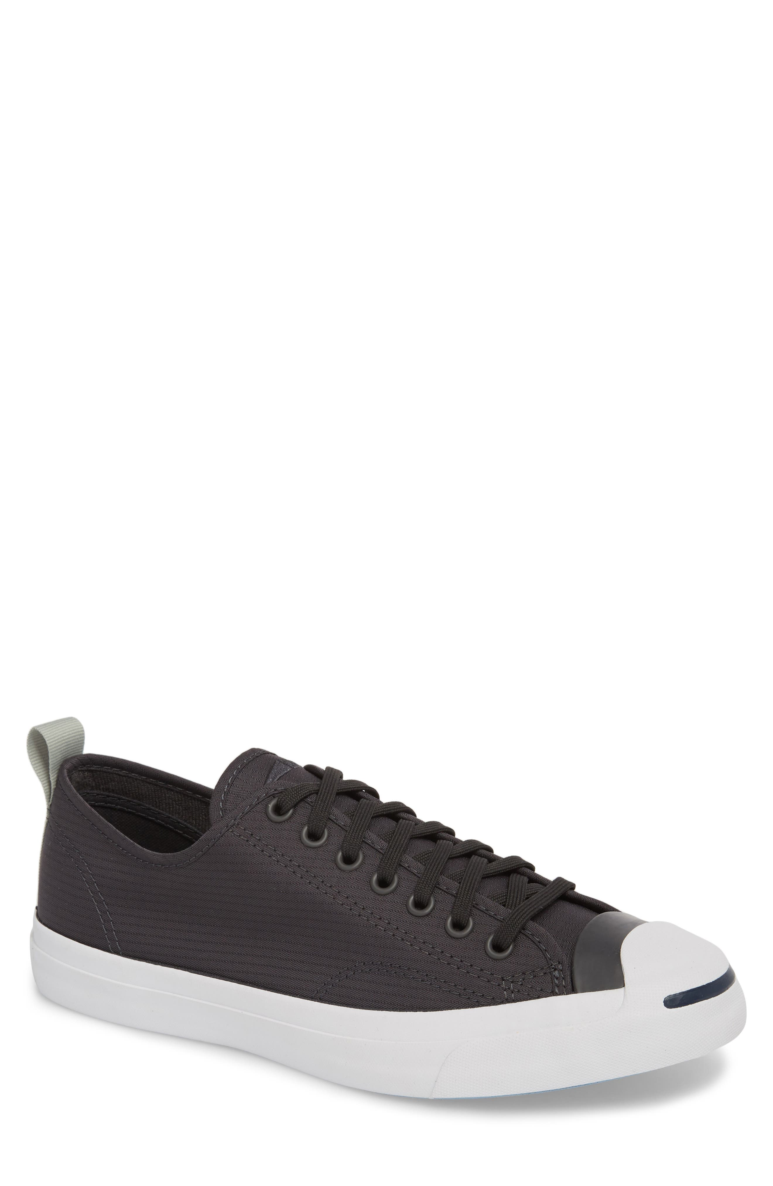Jack Purcell Ripstop Sneaker,                             Main thumbnail 1, color,                             Black
