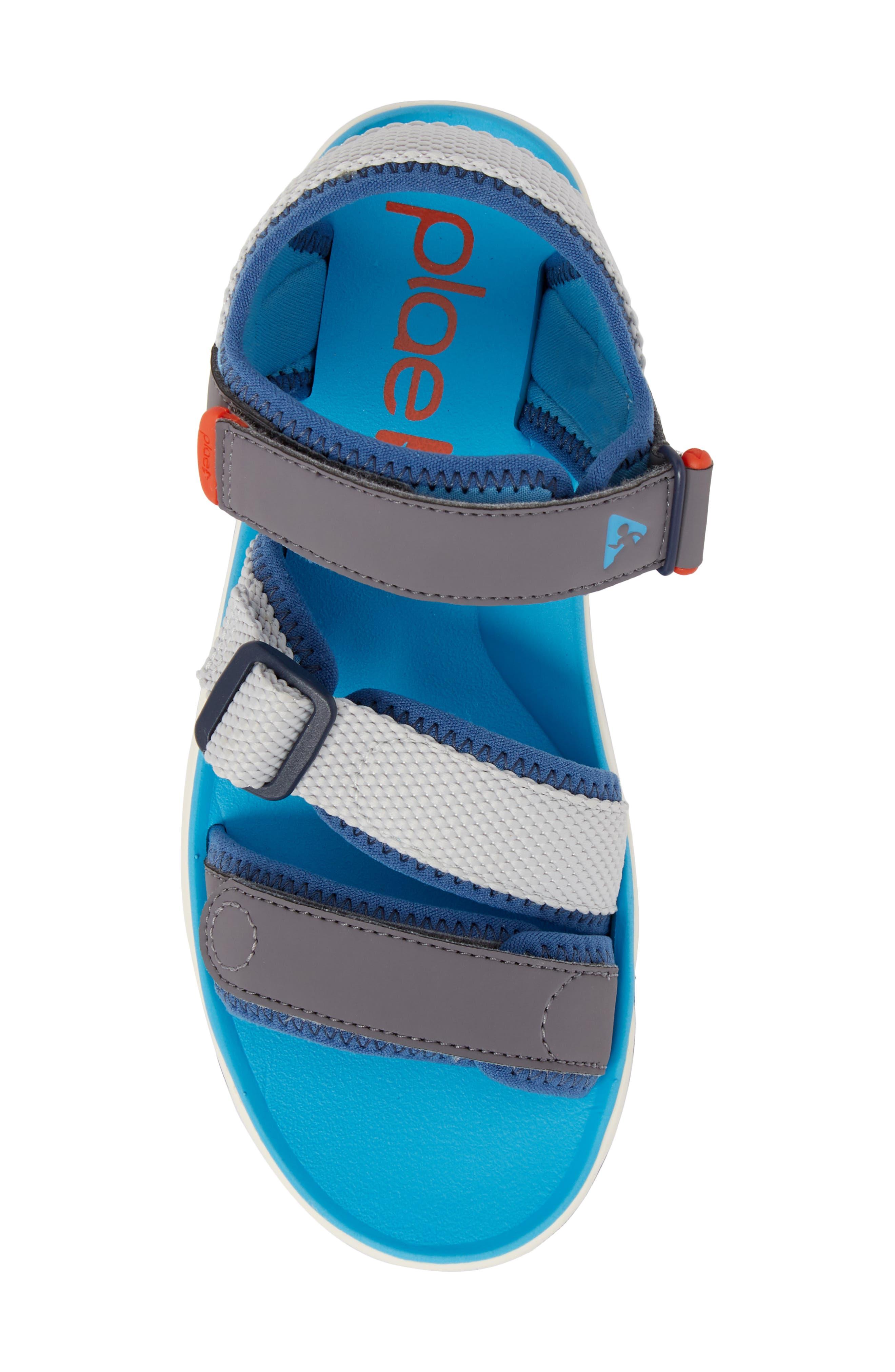 Wes Customizable Sandal,                             Alternate thumbnail 6, color,                             Aloha Blue
