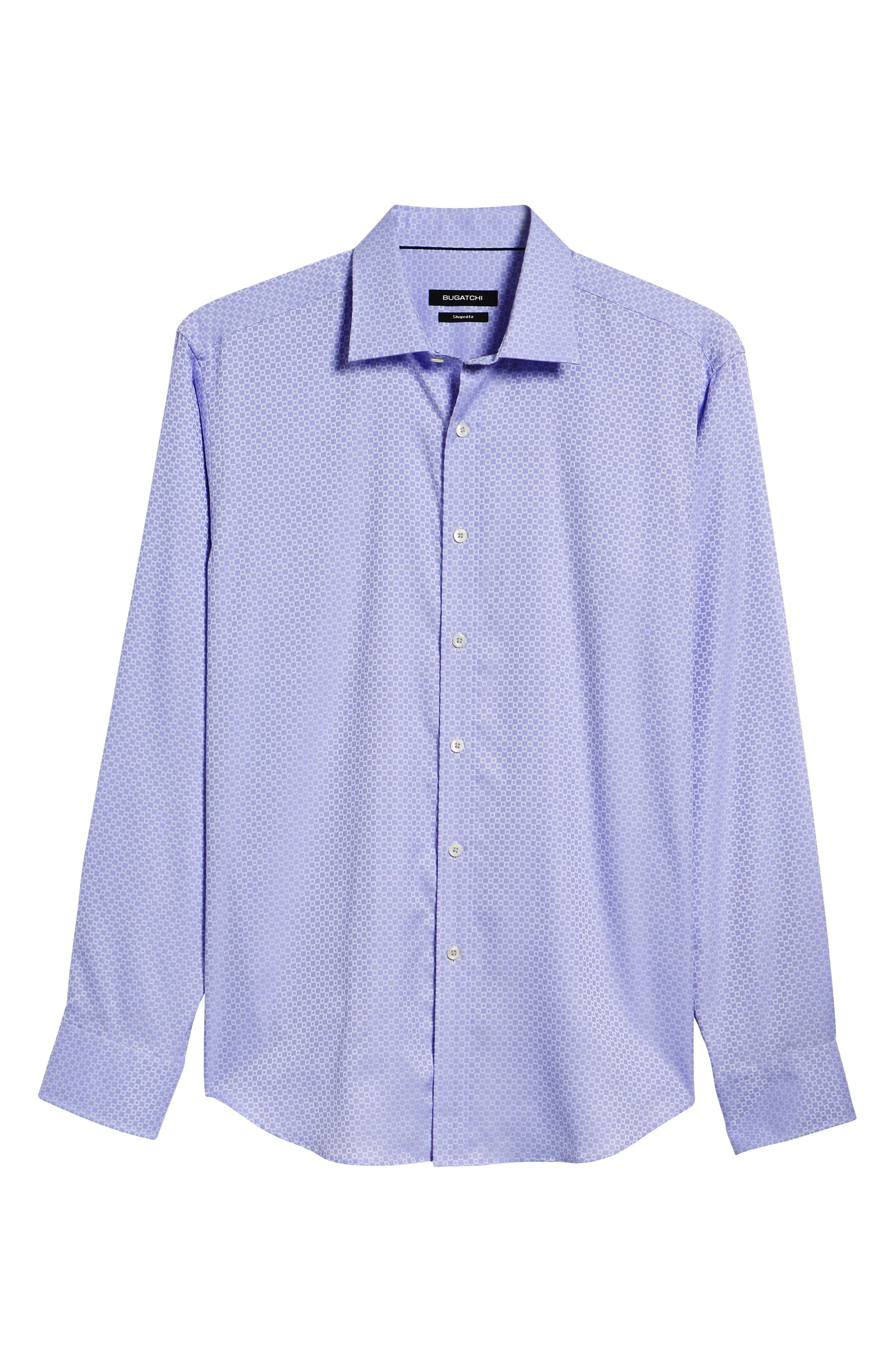 Woven Sport Shirt,                             Alternate thumbnail 6, color,                             Lavender