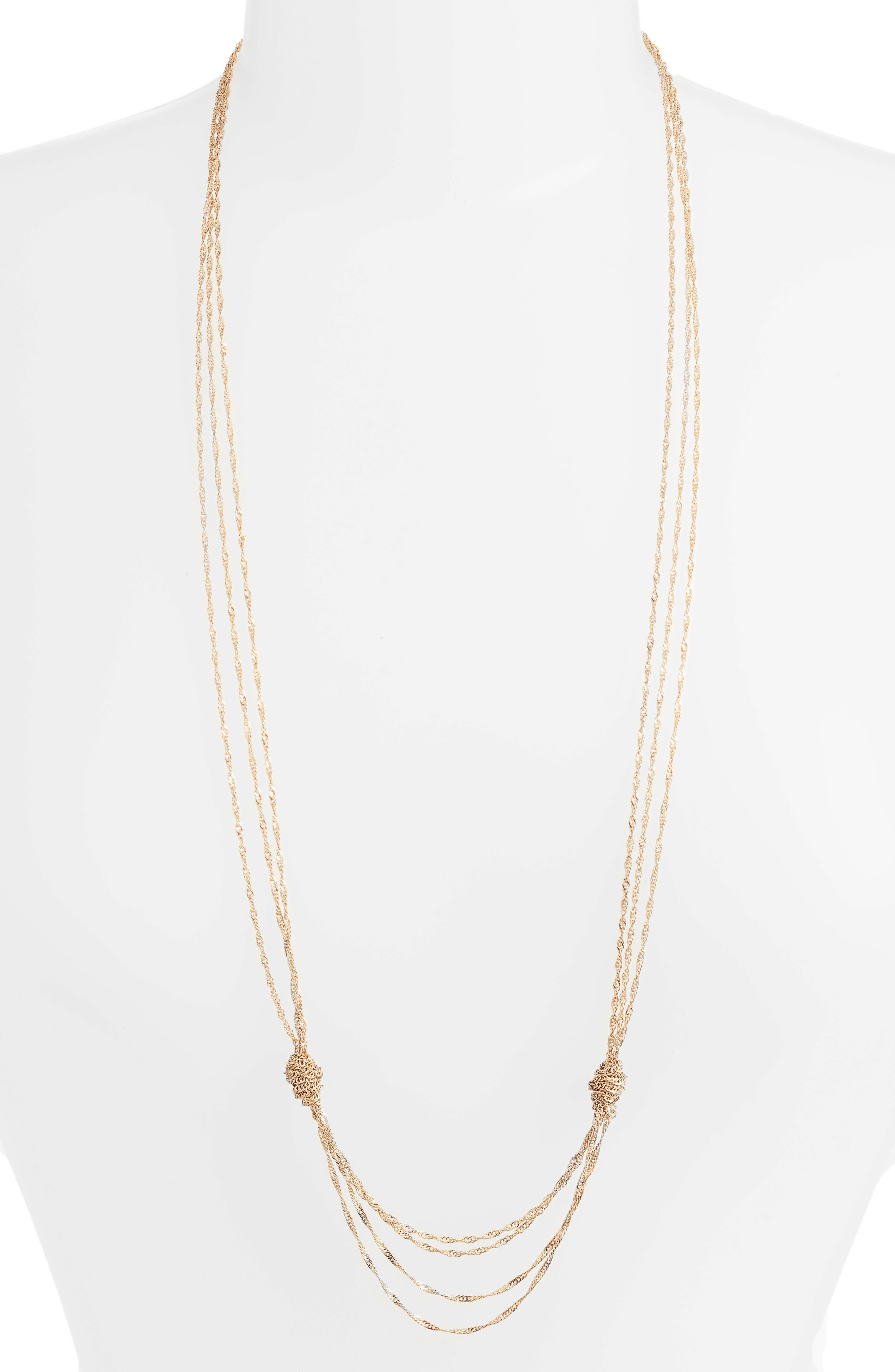 Jenny Layering Necklace,                         Main,                         color, Gold