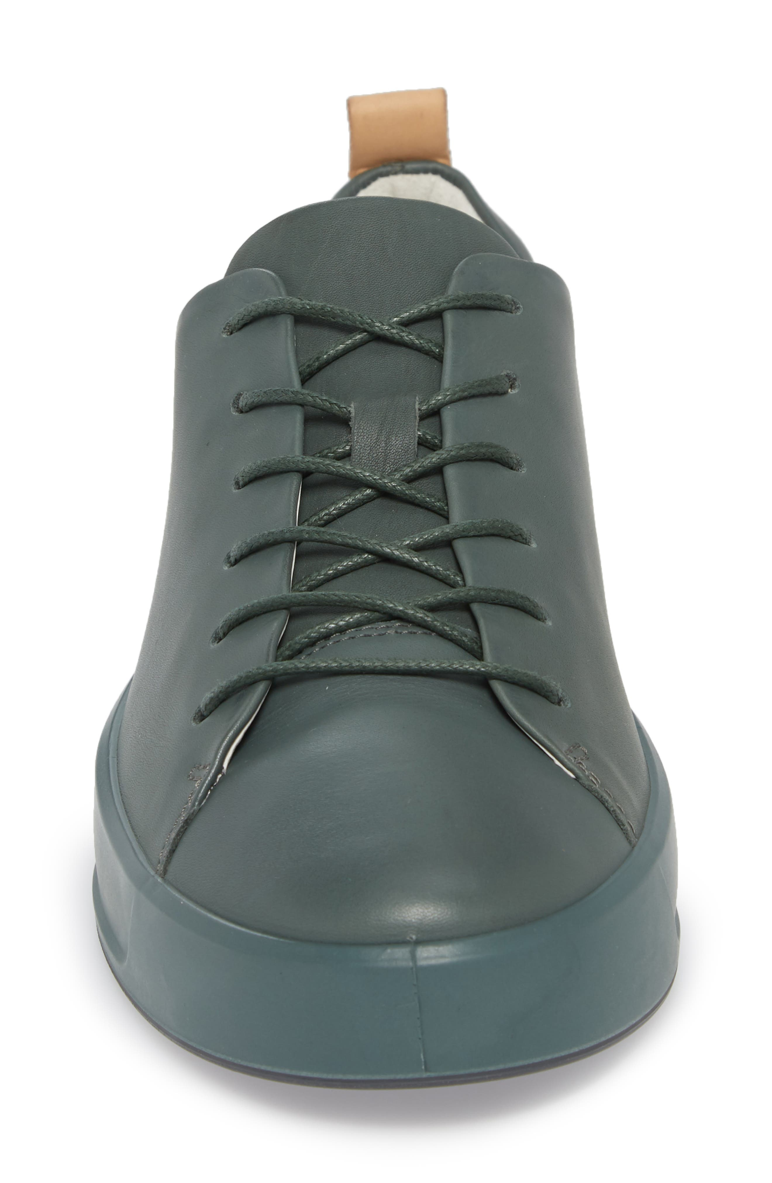 Soft 8 Low Top Sneaker,                             Alternate thumbnail 4, color,                             Military Sage Leather