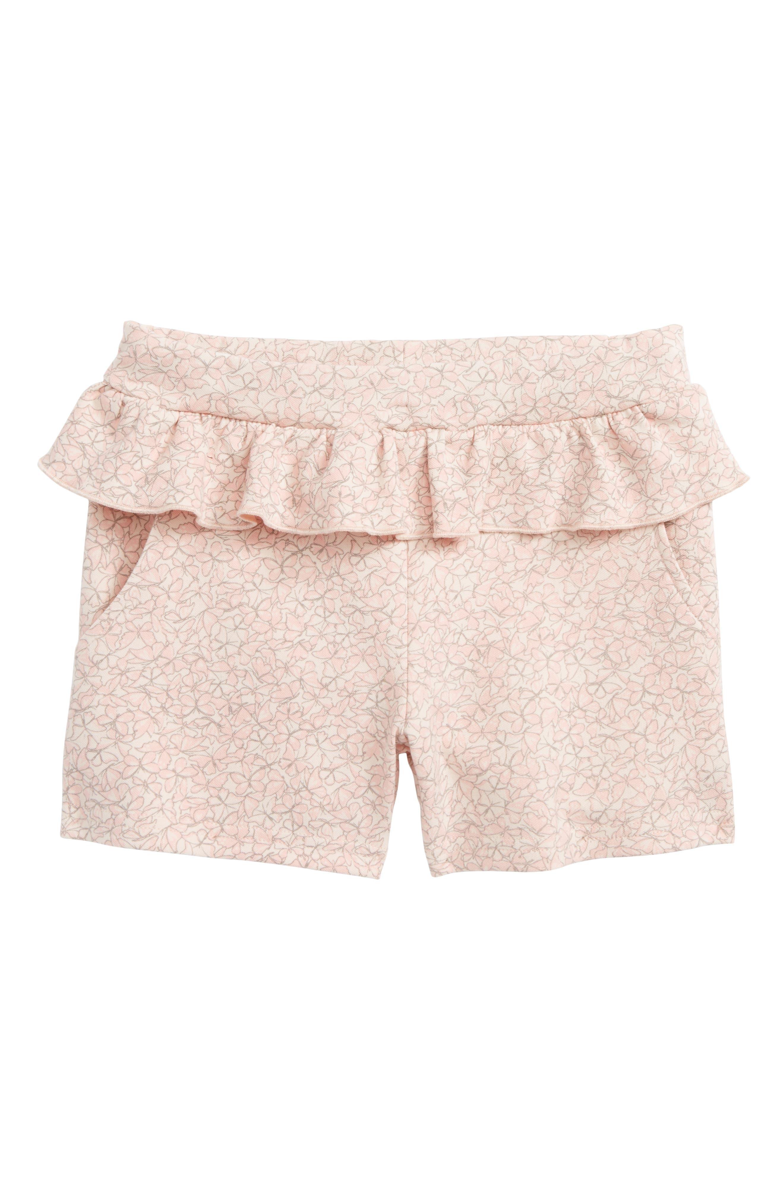 Butterfly Ruffle Shorts,                             Main thumbnail 1, color,                             2400 Powder
