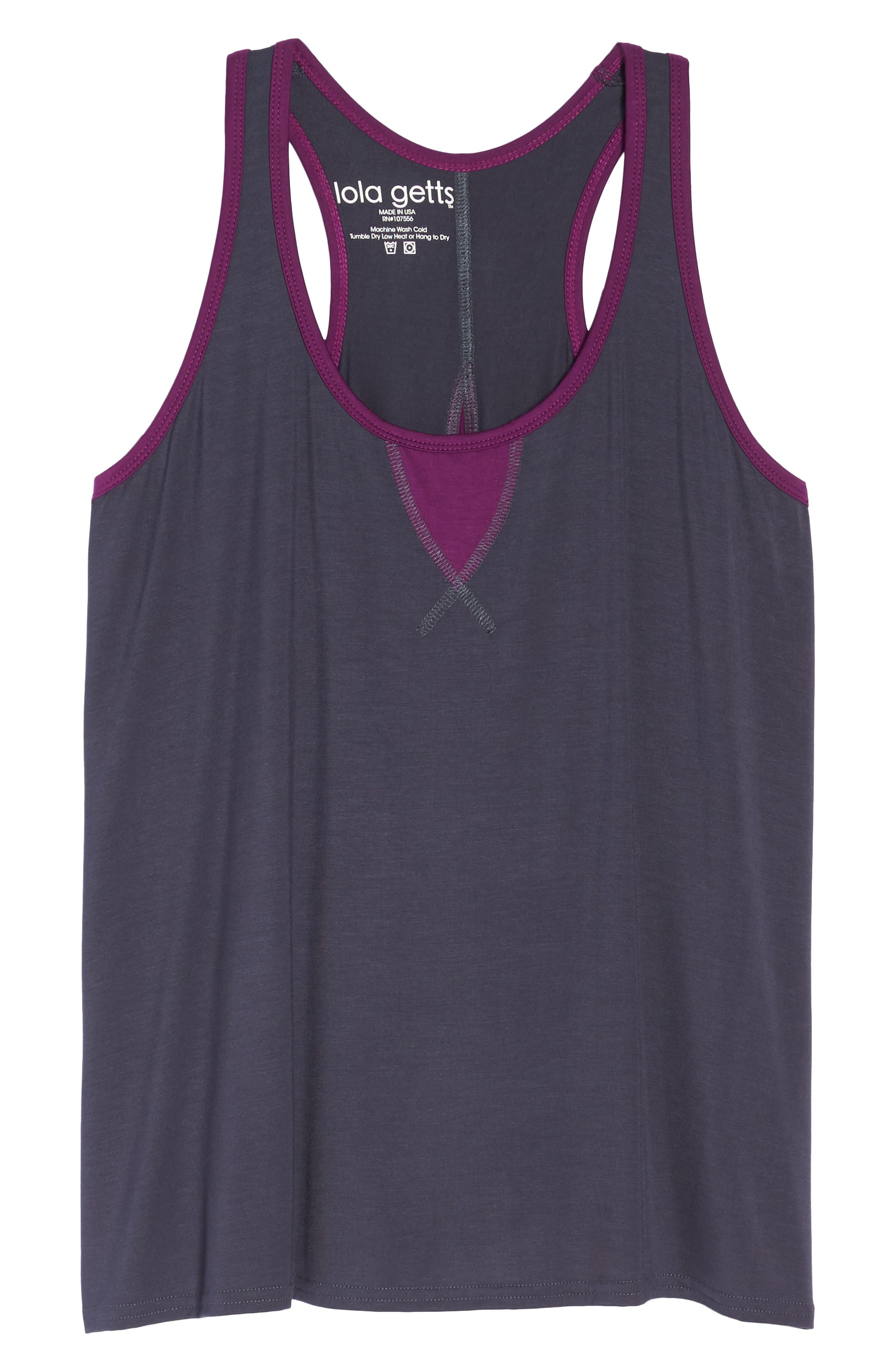 Easy Tank,                             Alternate thumbnail 6, color,                             Charcoal/ Plum