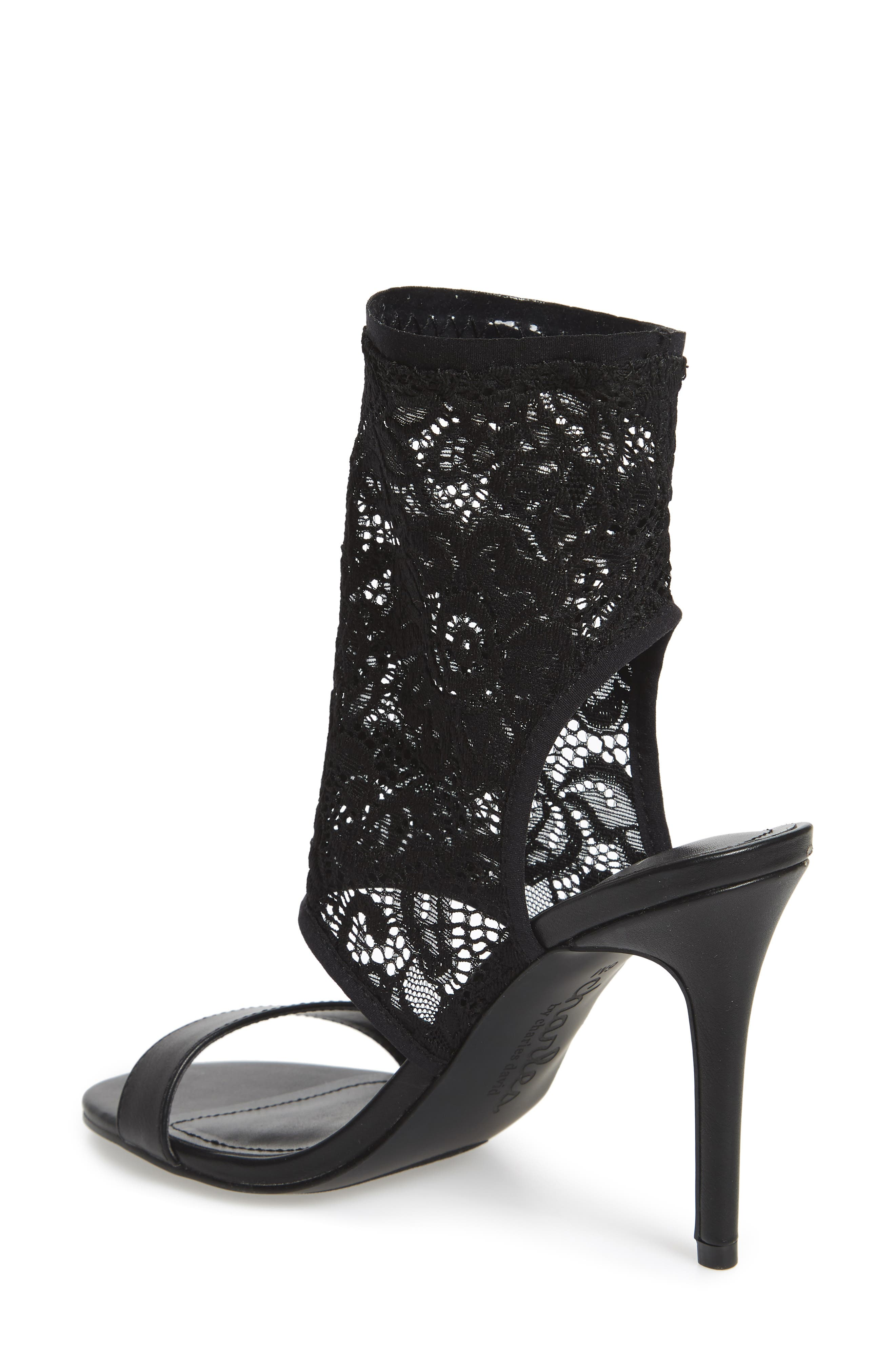 Remote Sock Cuff Sandal,                             Alternate thumbnail 2, color,                             Black Fabric