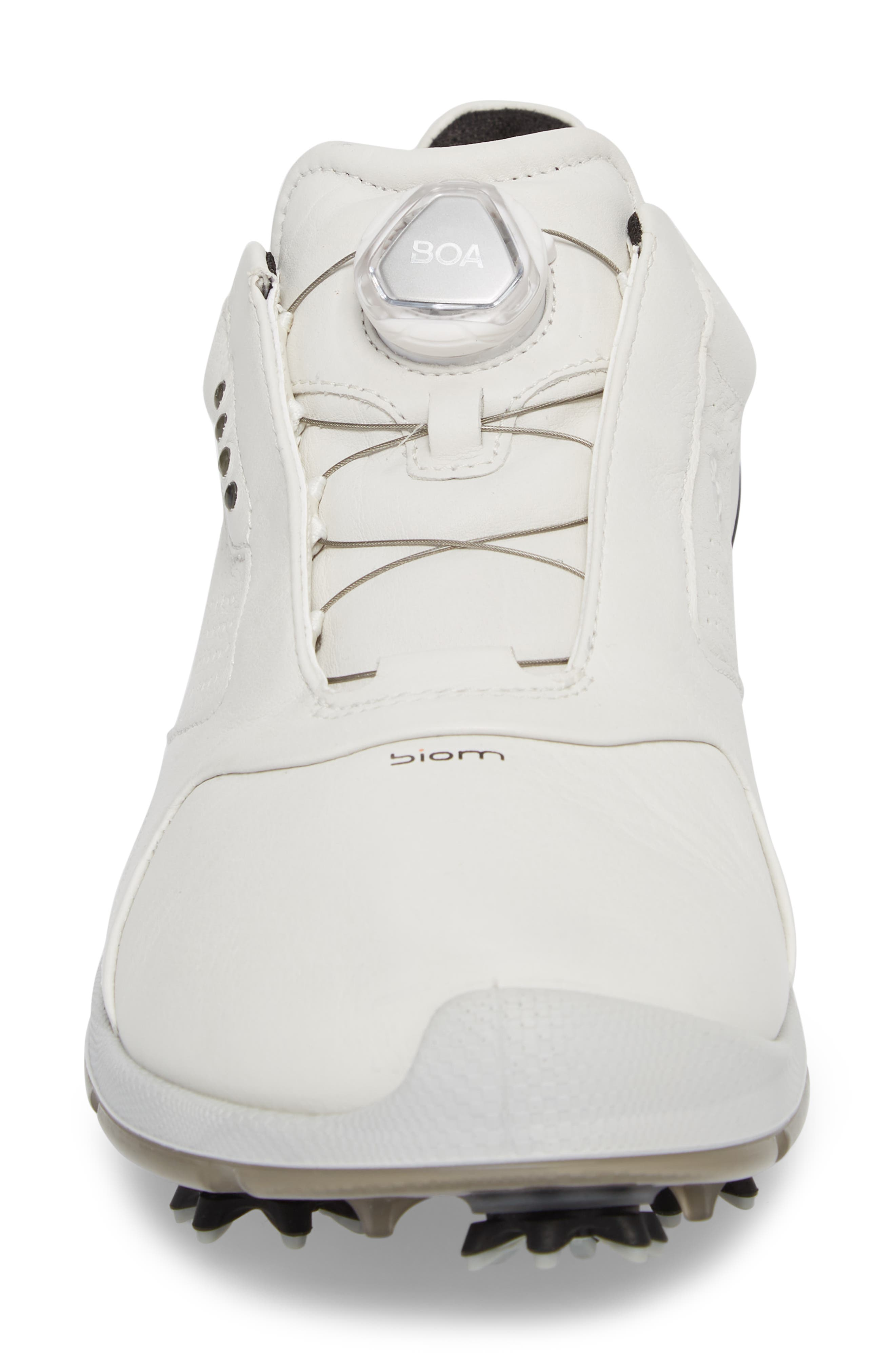 BIOM 2 BOA Gore-Tex<sup>®</sup> Golf Shoe,                             Alternate thumbnail 4, color,                             White/ Black Leather
