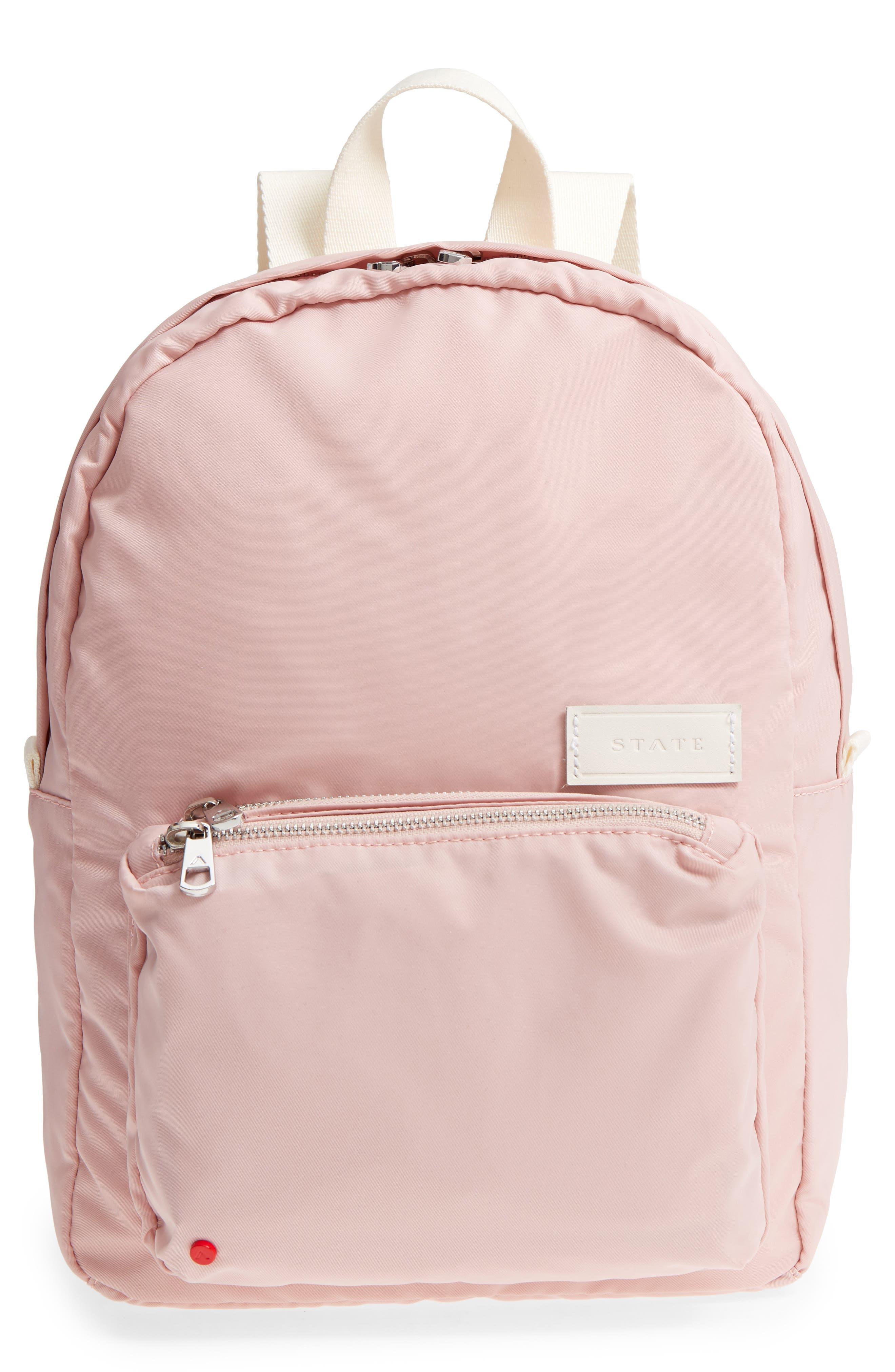 The Heights Mini Lorimer Nylon Backpack,                             Main thumbnail 1, color,                             Rose