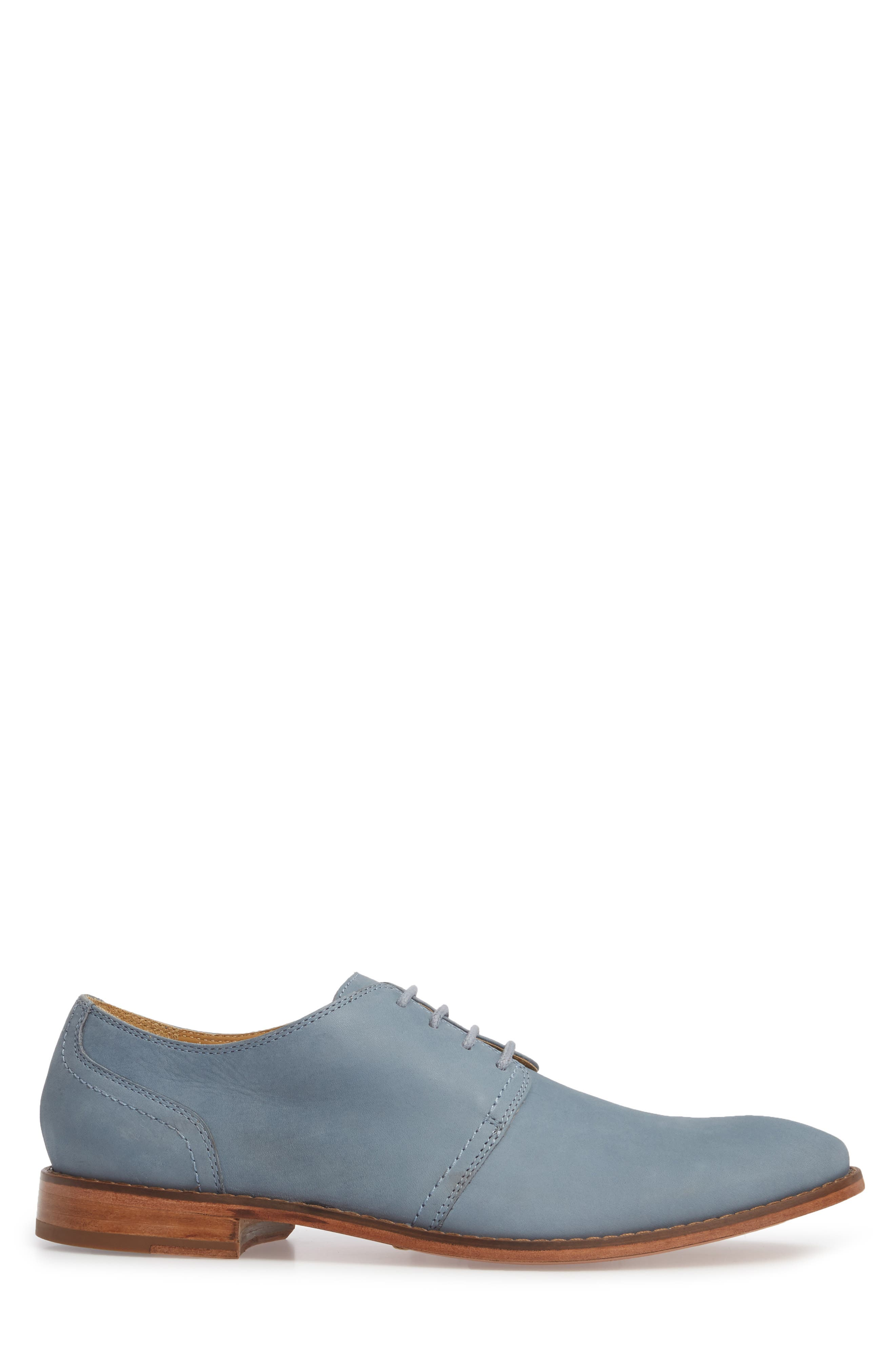 Caan Plain Toe Derby,                             Alternate thumbnail 3, color,                             Flint Stone Leather