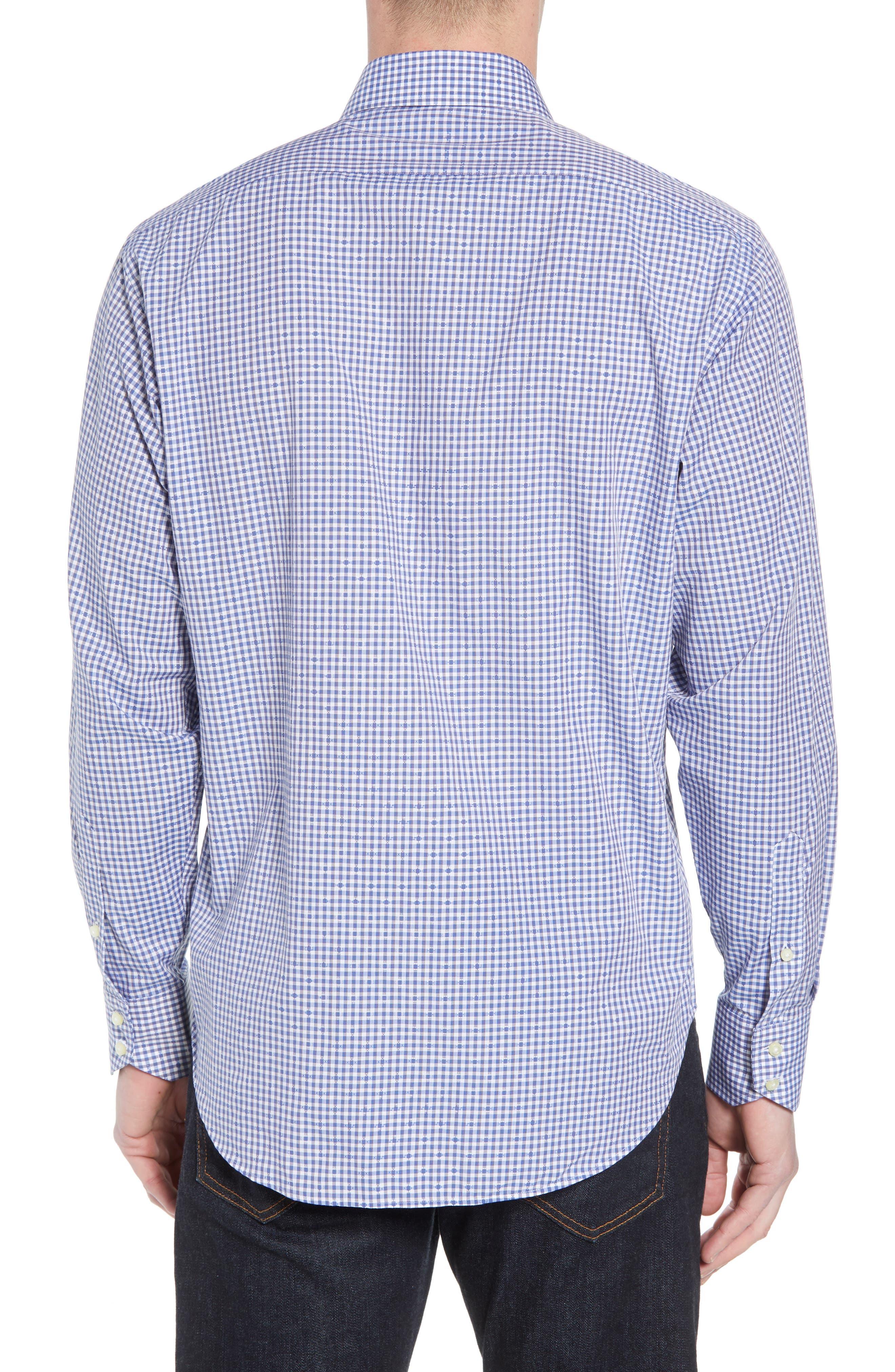 Regular Fit Check Sport Shirt,                             Alternate thumbnail 2, color,                             Blue