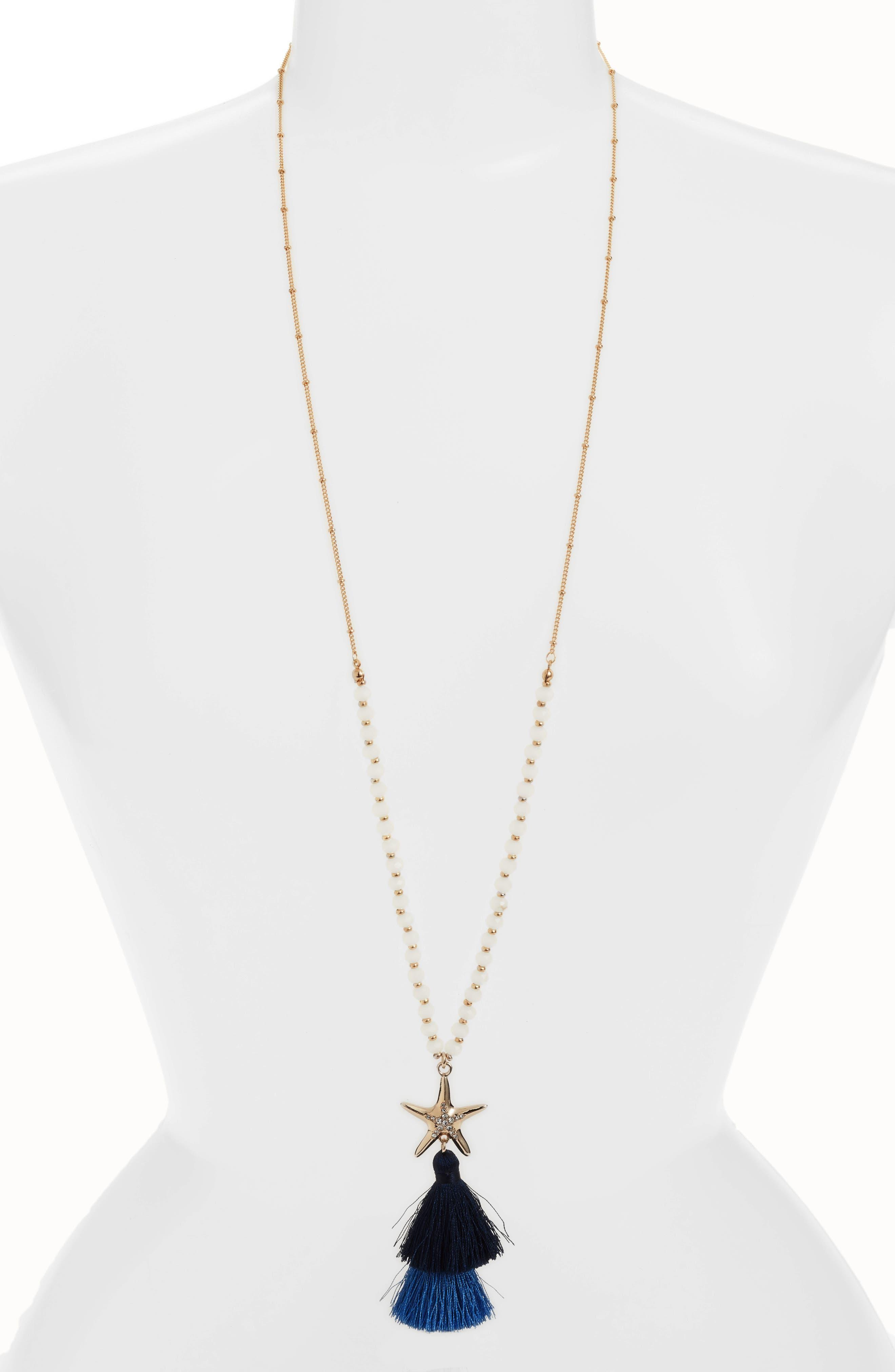 Starbright Necklace,                         Main,                         color, Nauti Navy