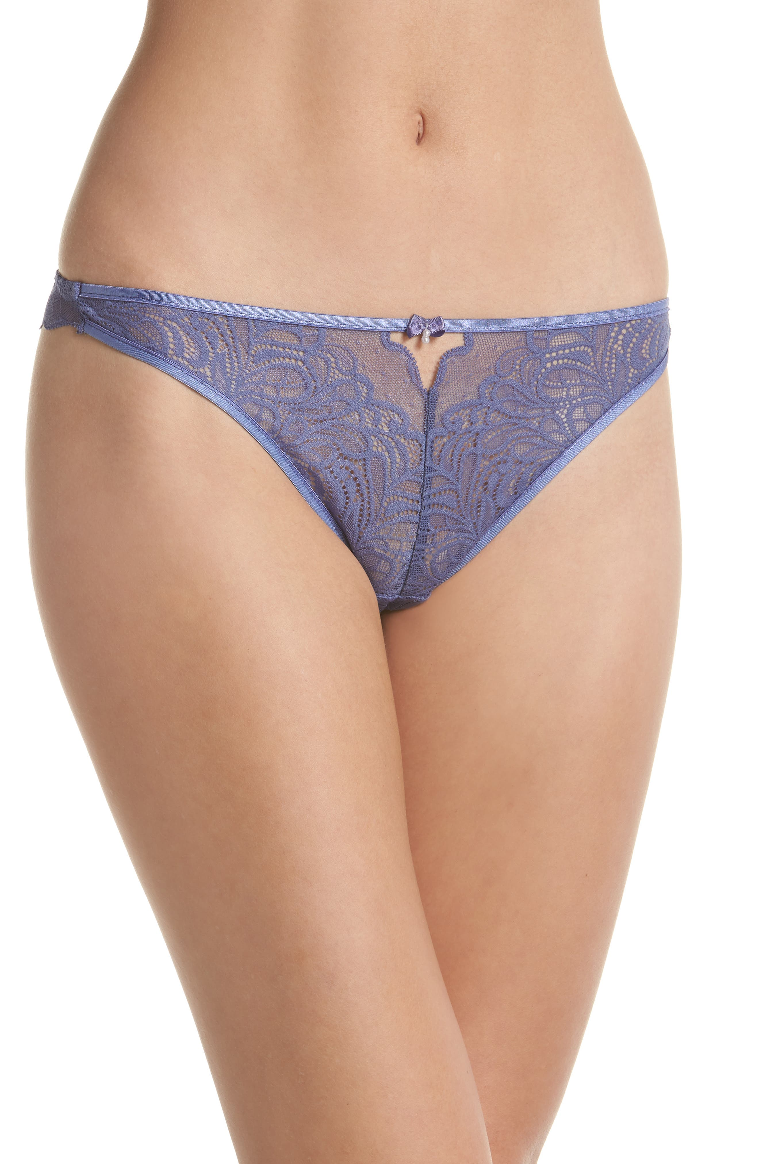 Lace Thong,                         Main,                         color, Blue Ice