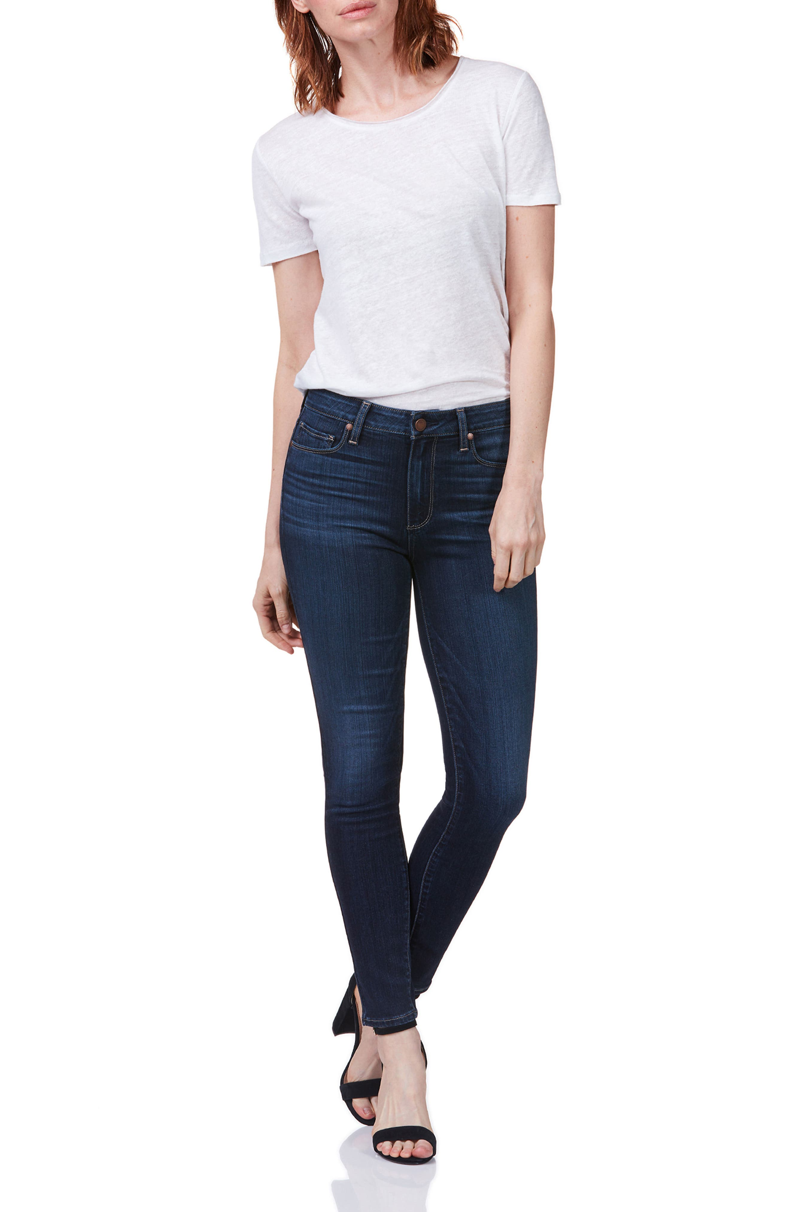 Hoxton High Waist Ultra Skinny Jeans,                             Alternate thumbnail 3, color,