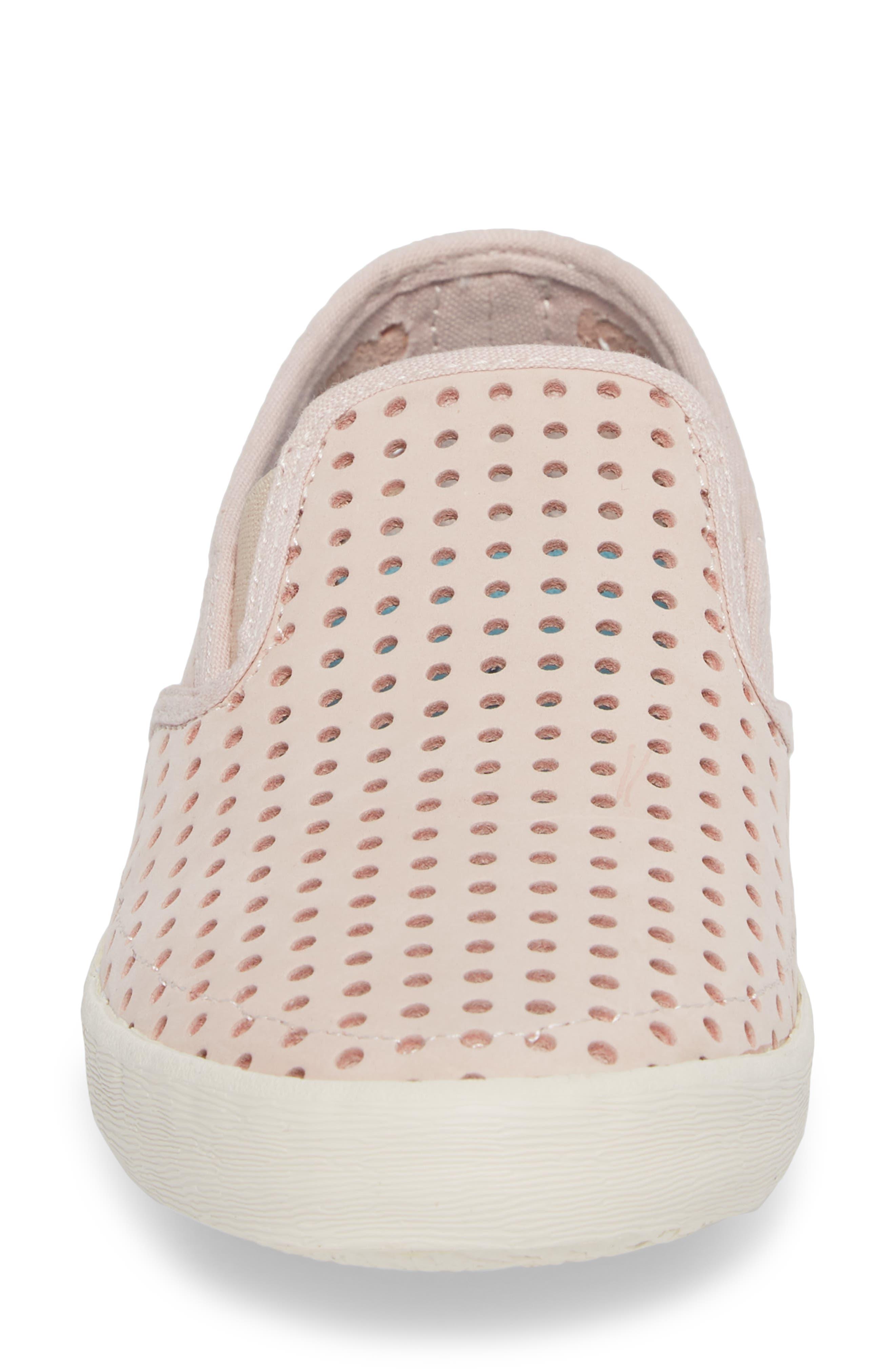 Baja Perforated Slip-On Sneaker,                             Alternate thumbnail 4, color,                             Rose Quartz