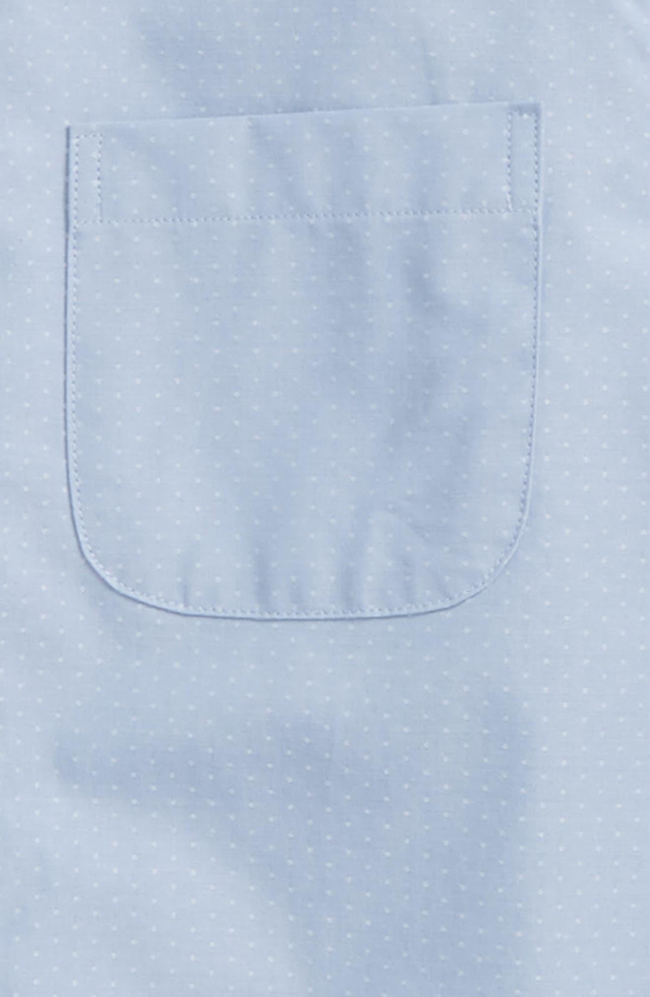 Poplin Dress Shirt,                             Alternate thumbnail 2, color,                             Blue Xenon Poplin