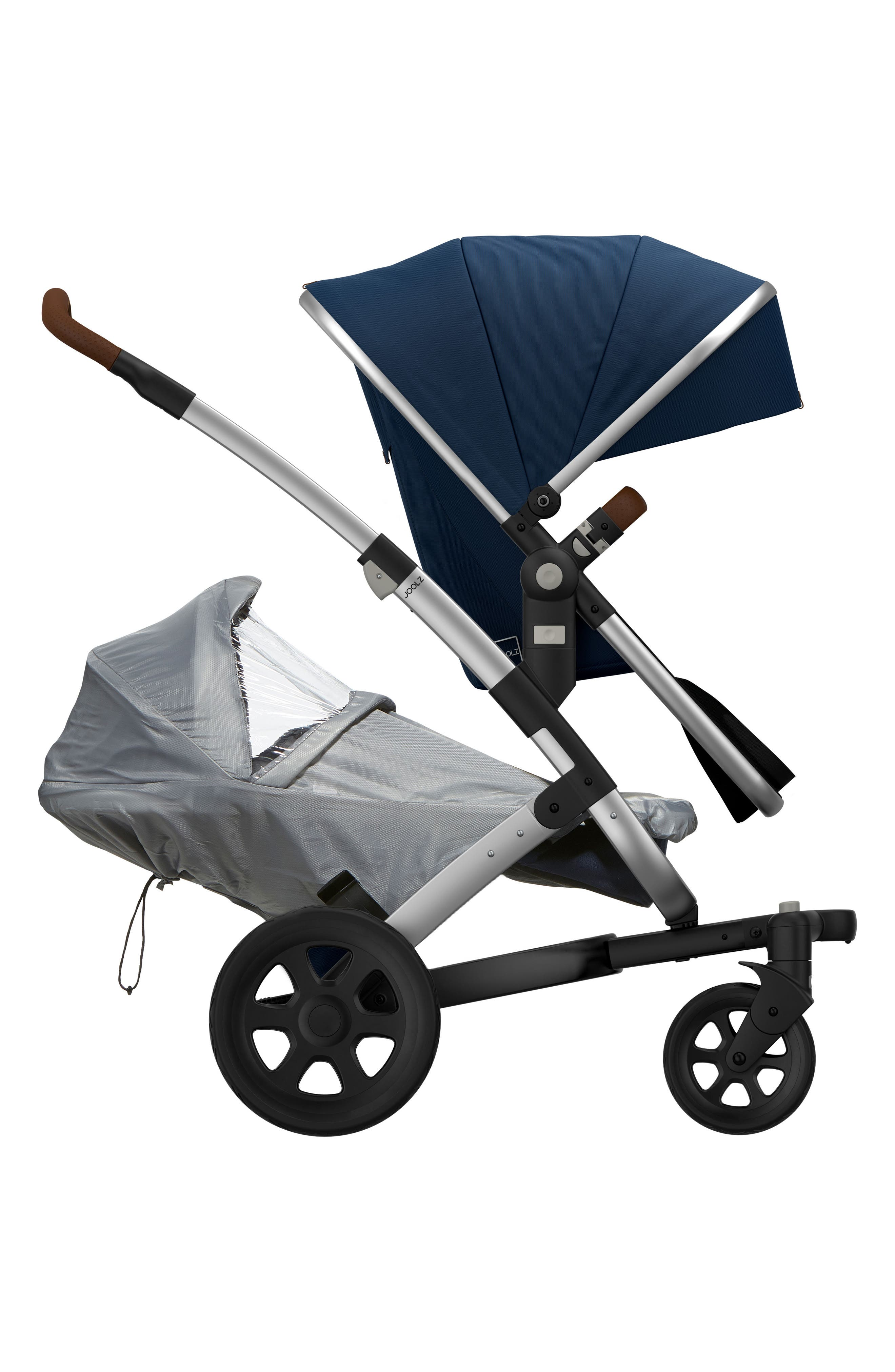 Geo2 Stroller Lower Rain Cover,                         Main,                         color, Grey/ Clear
