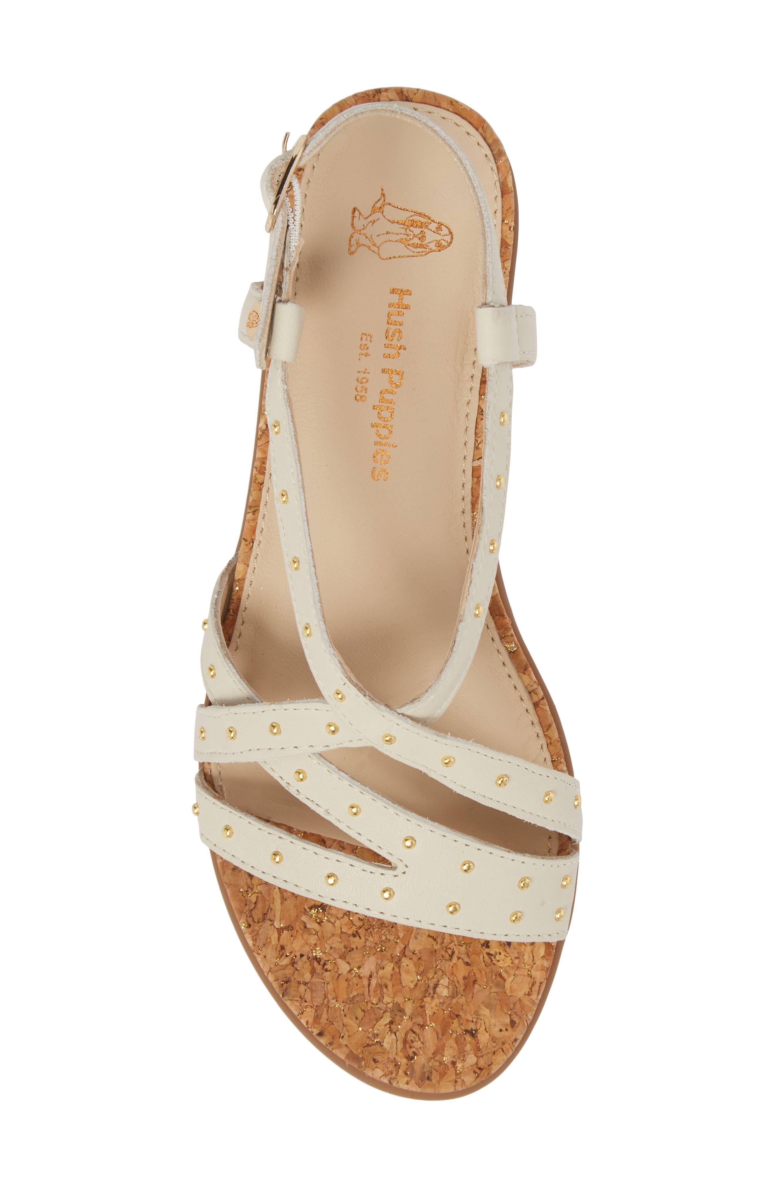 Dalmatian Studded Sandal,                             Alternate thumbnail 5, color,                             Ivory Leather