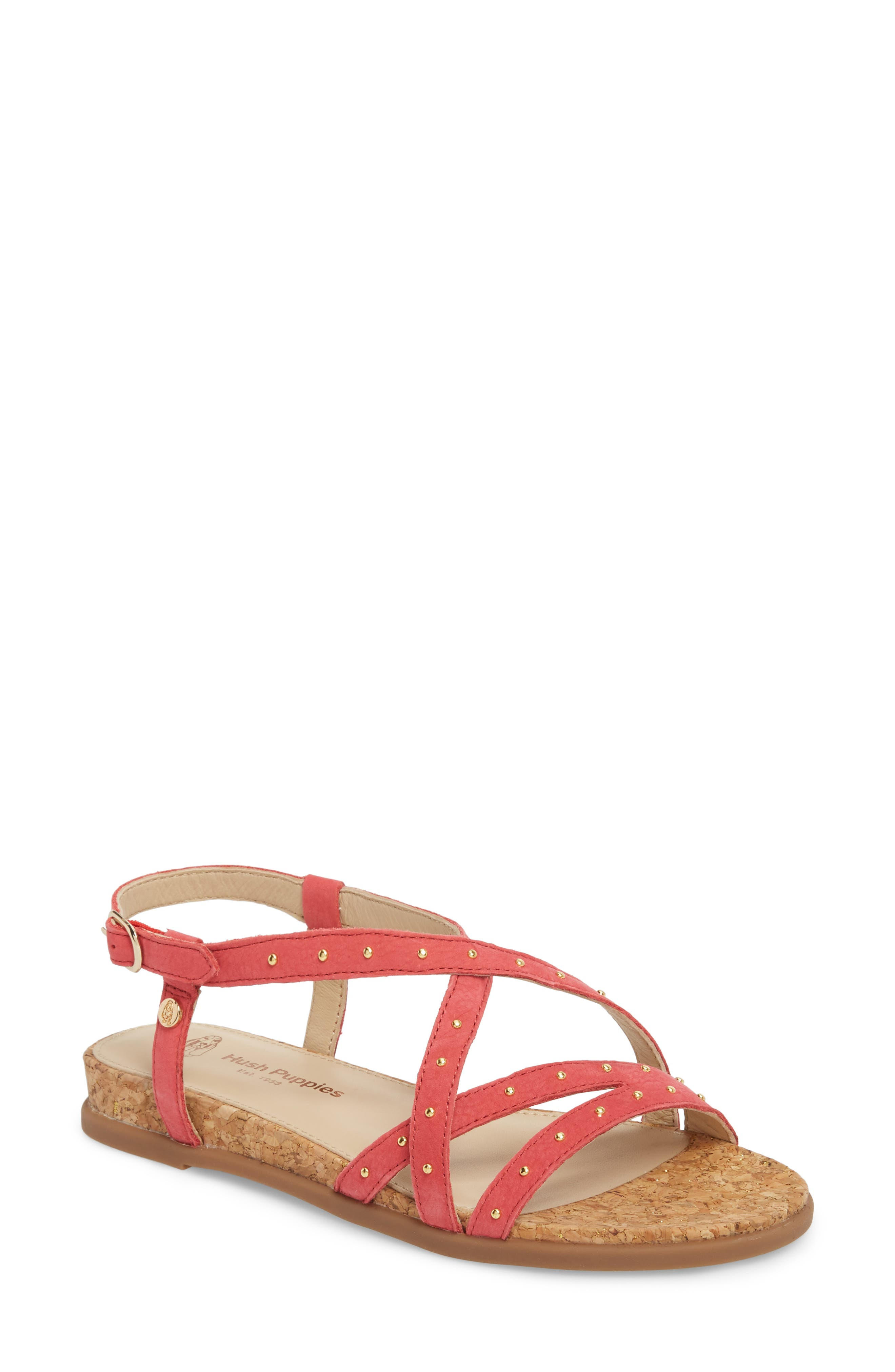 Hush Puppies® Dalmatian Studded Sandal (Women)