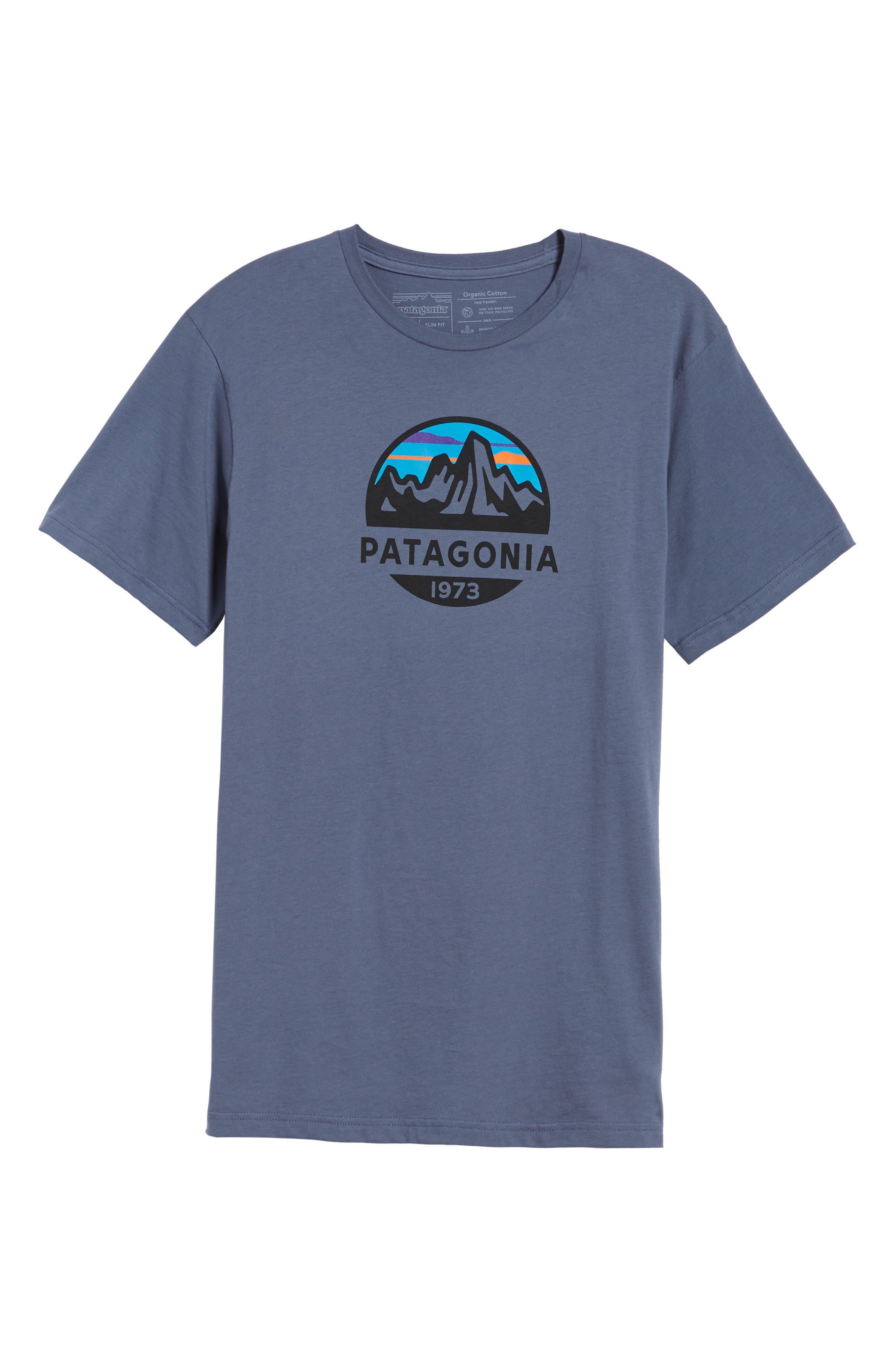 Fitz Roy Scope Crewneck T-Shirt,                             Alternate thumbnail 6, color,                             Dolomite Blue