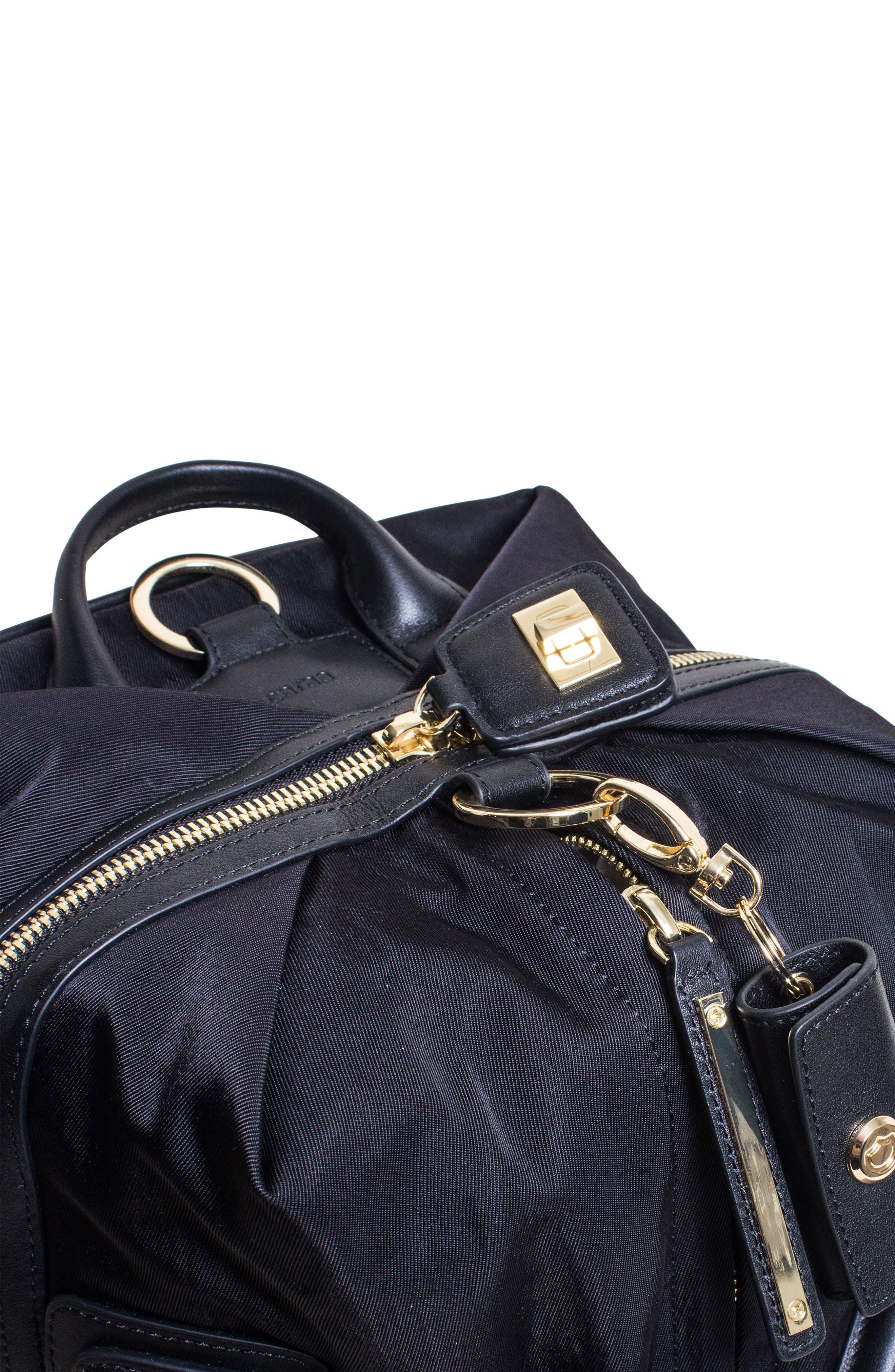 Studio Duffel Backpack,                             Alternate thumbnail 7, color,                             Black