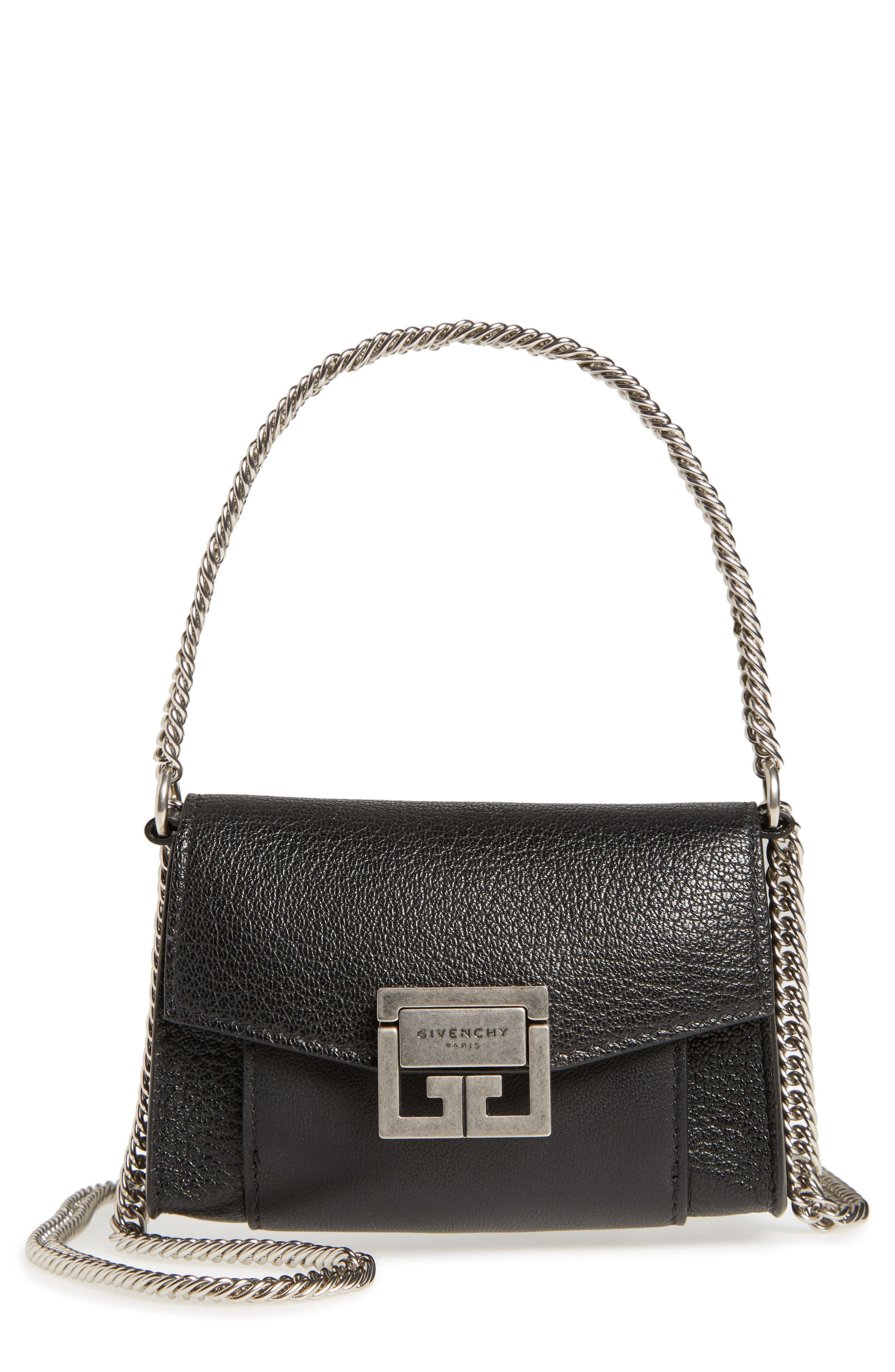 Nano GV3 Leather Crossbody Bag,                             Main thumbnail 1, color,                             Black