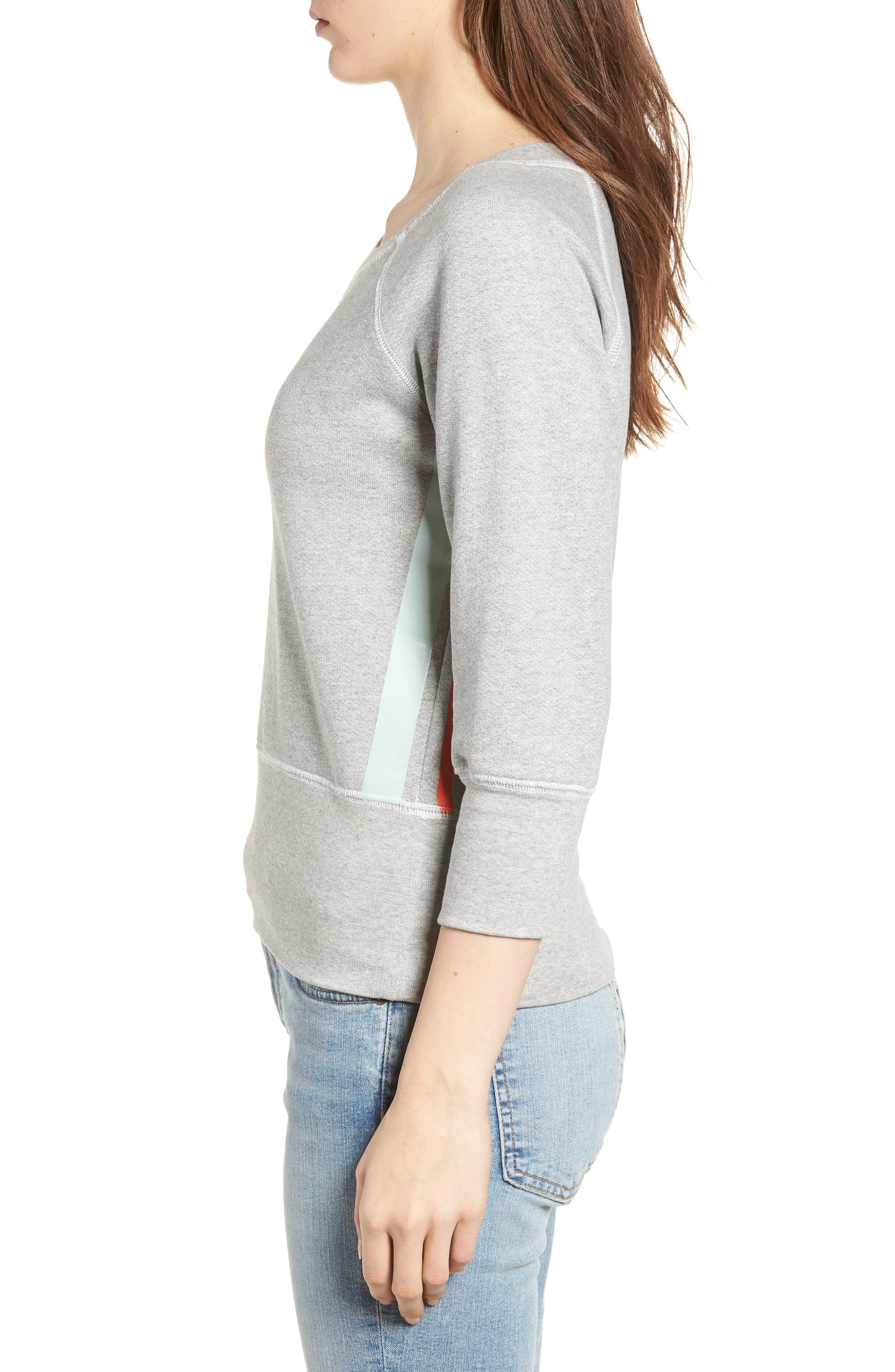 The Dallas Sweatshirt,                             Alternate thumbnail 3, color,                             Heather Grey Fleece