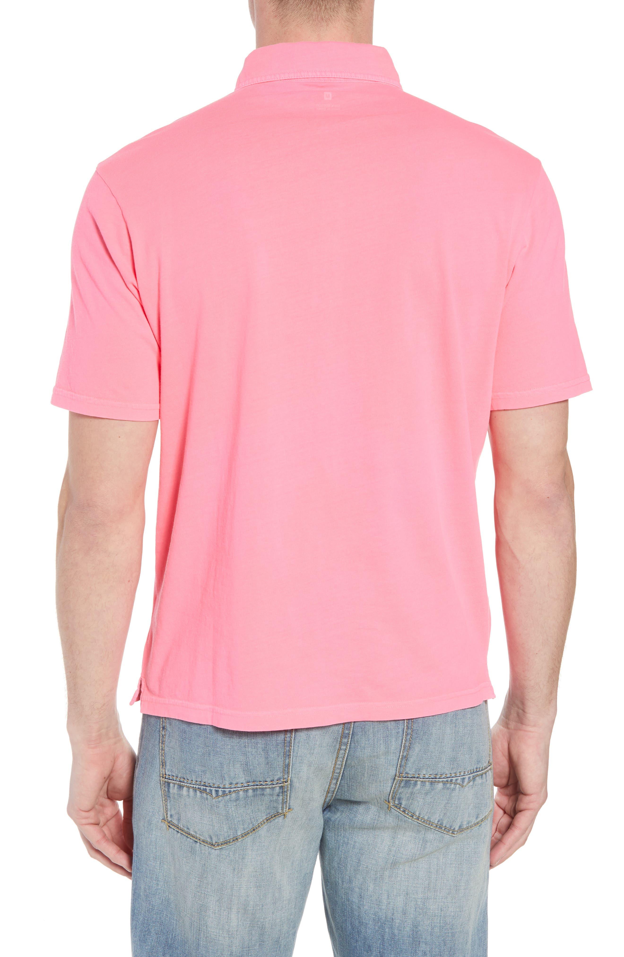 Original Regular Fit Garment Dyed Polo,                             Alternate thumbnail 2, color,                             Neon Pink