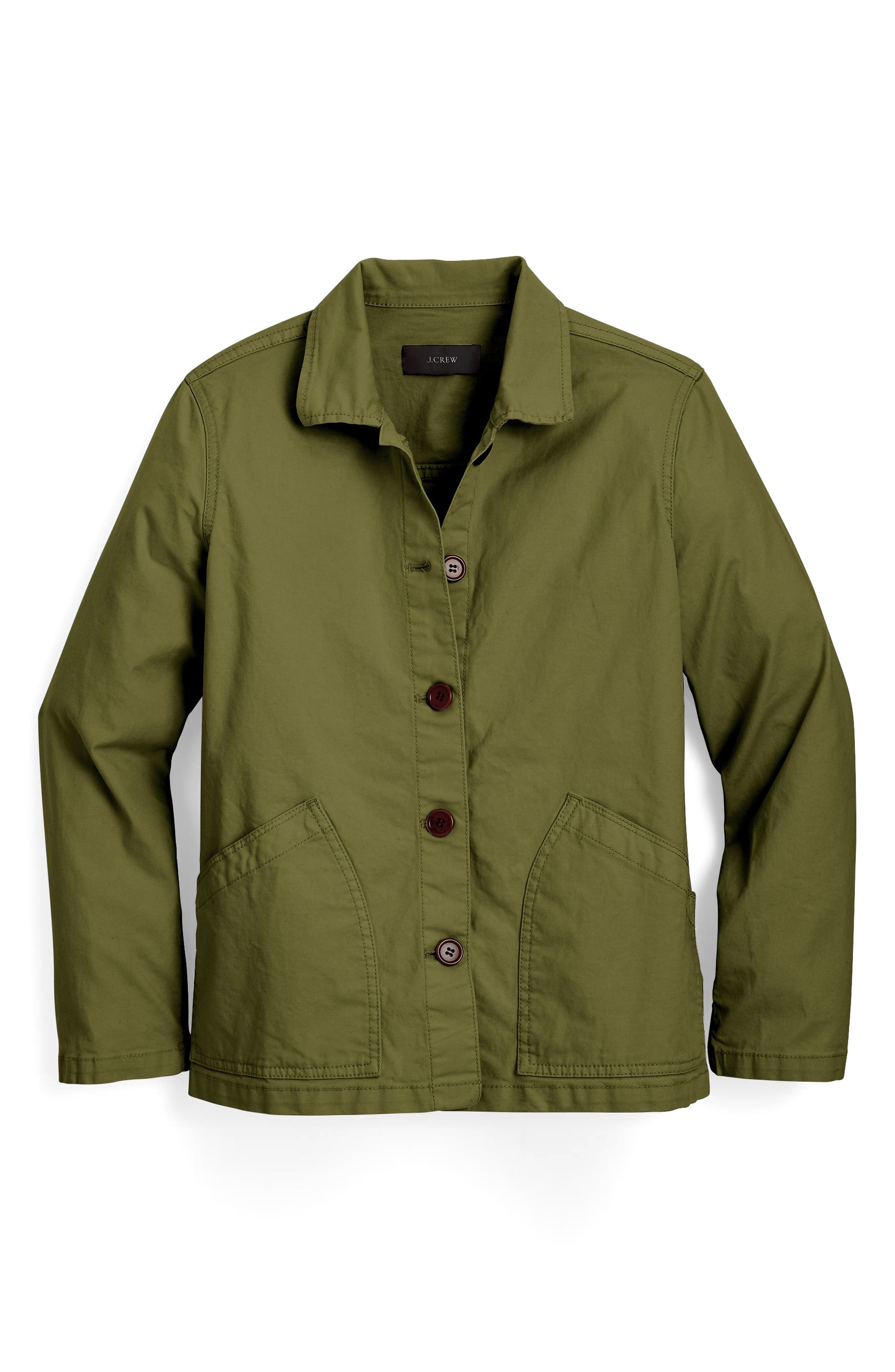 Main Image - J.Crew Garment Dyed Swing Jacket