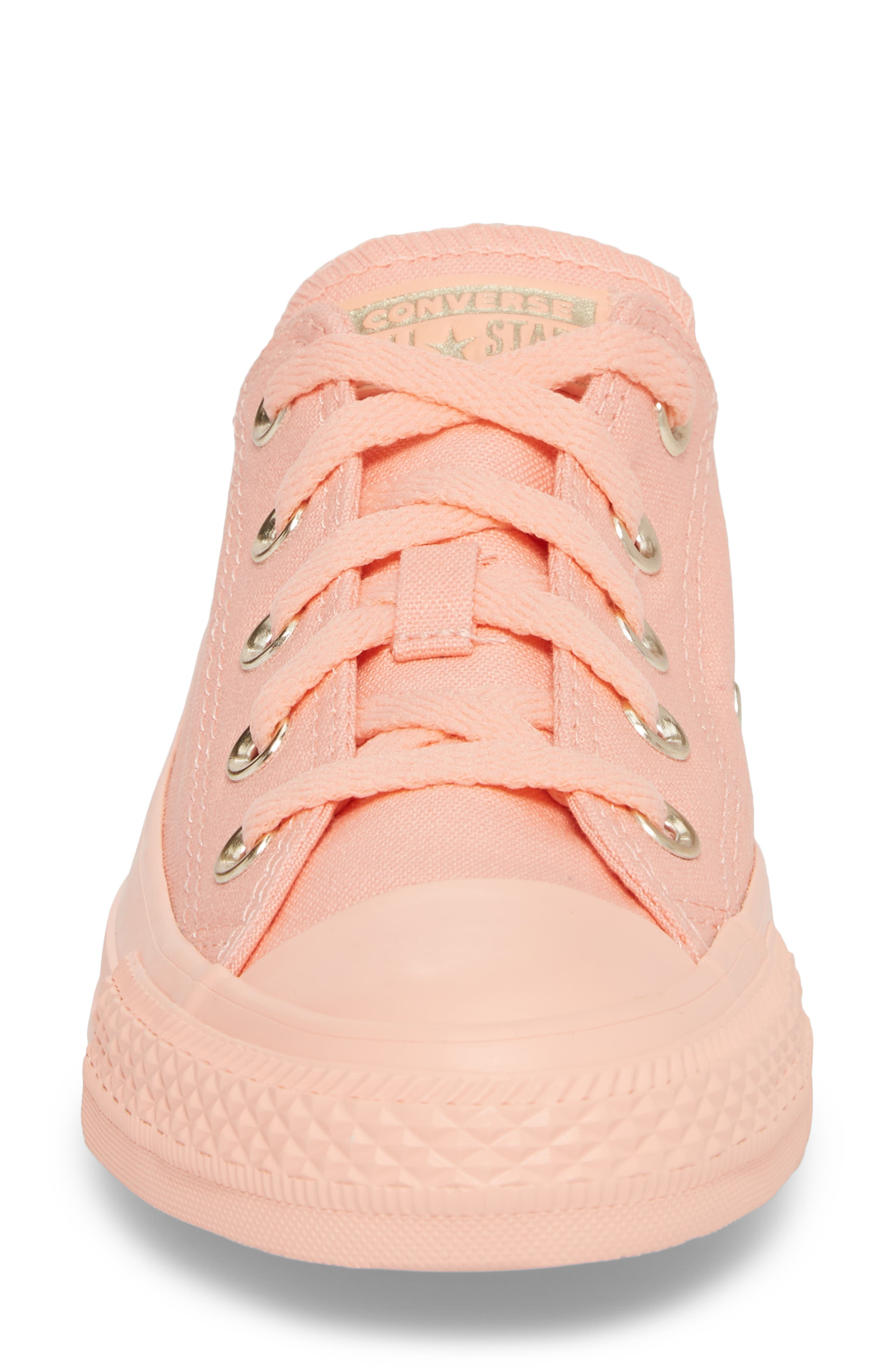 Chuck Taylor<sup>®</sup> All Star<sup>®</sup> Seasonal Color Sneaker,                             Alternate thumbnail 4, color,                             Pale Coral