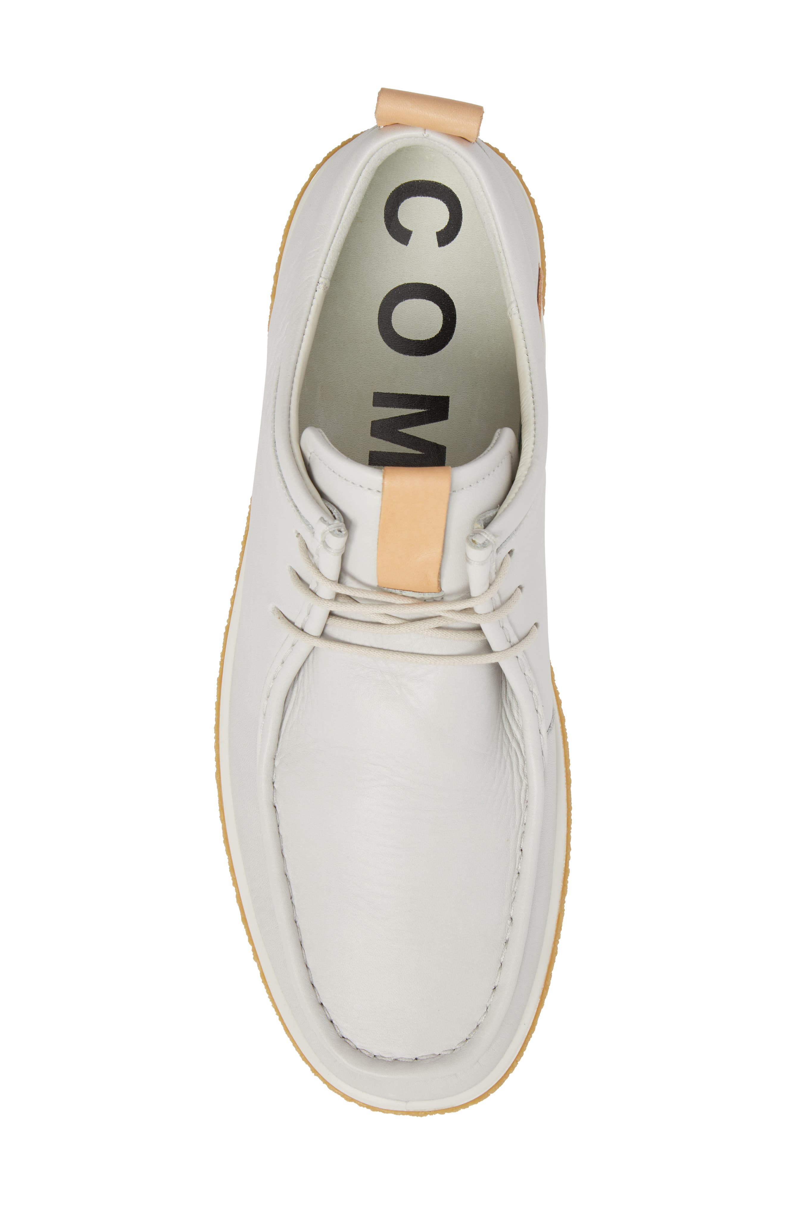 Crepetray Moc Toe Low Chukka Boot,                             Alternate thumbnail 5, color,                             Off White Leather