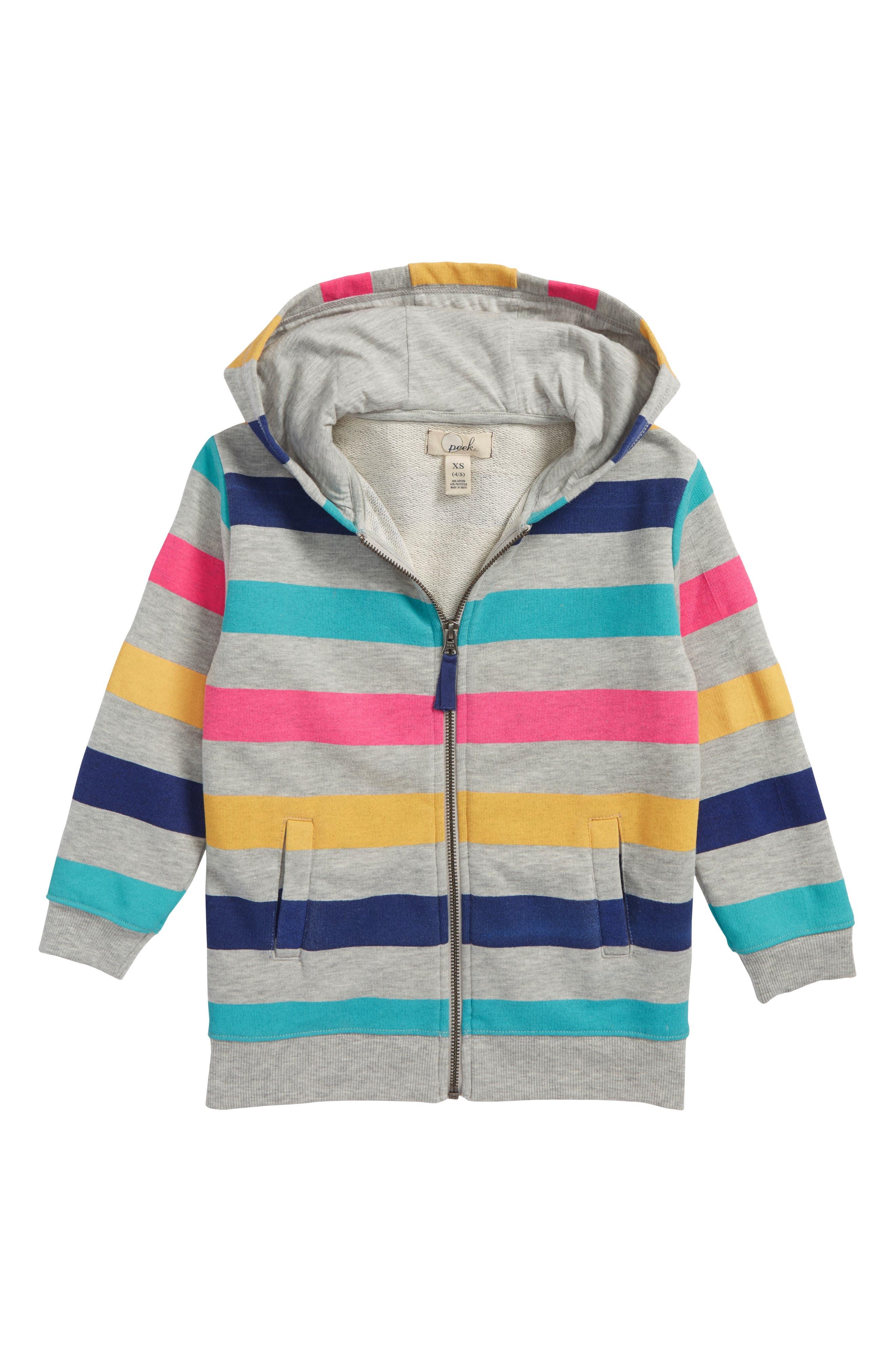 Stripe Hoodie,                         Main,                         color, Blue