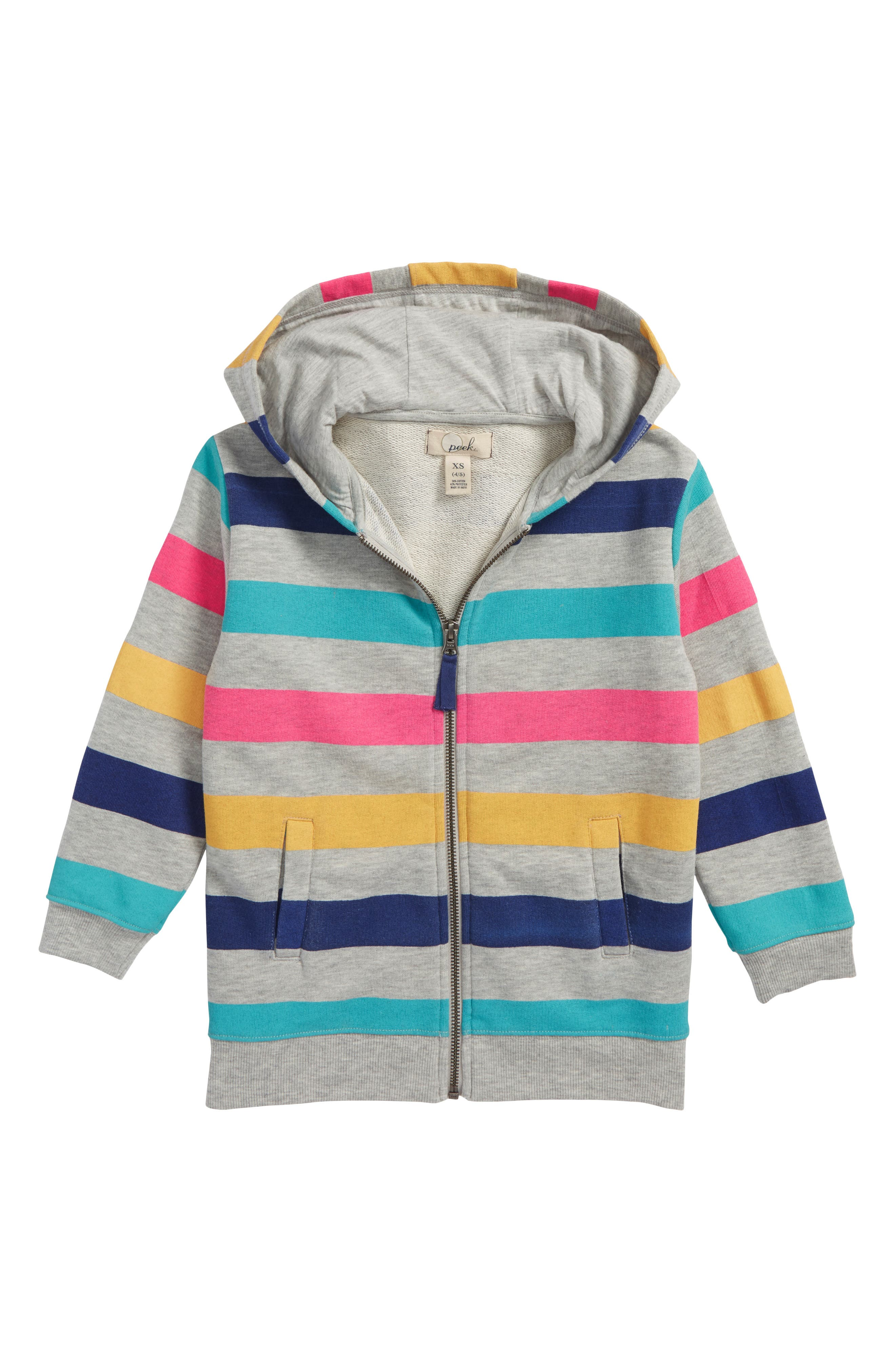 Stripe Hoodie,                         Main,                         color, Blue