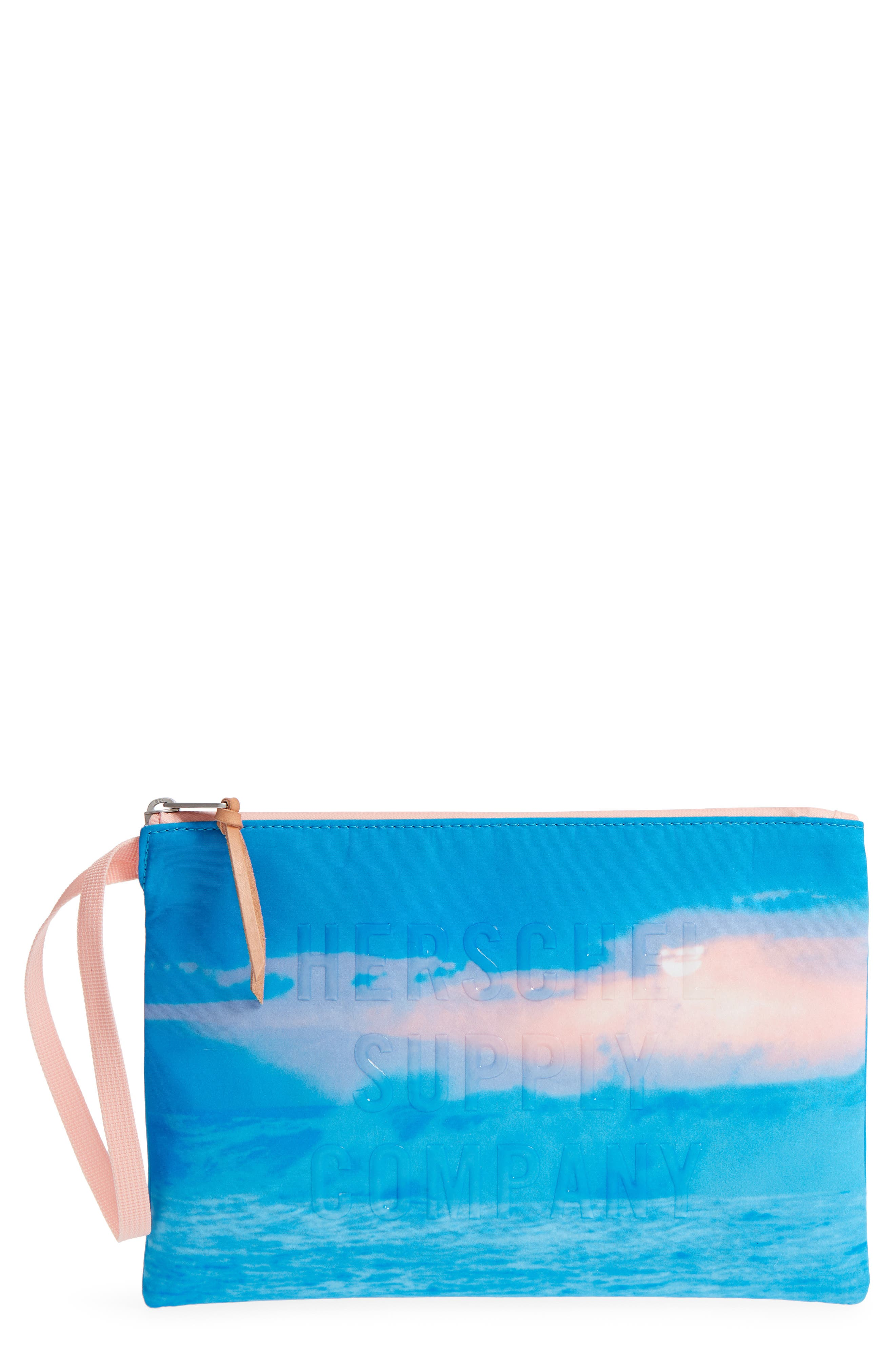 Mirage Network Large Pouch,                             Main thumbnail 1, color,                             Wave