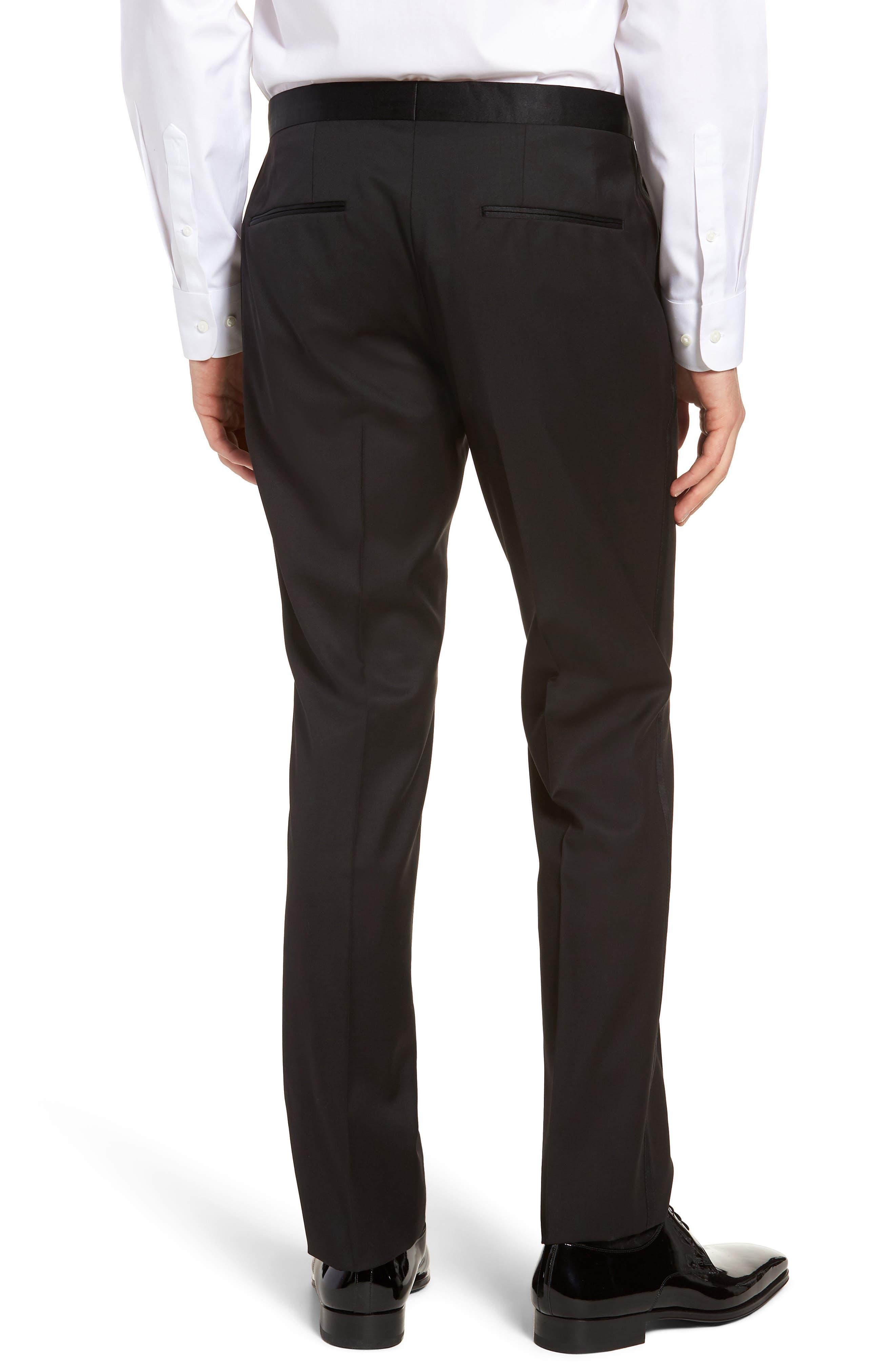 Alternate Image 2  - BOSS Gilan CYL Flat Front Wool Trousers