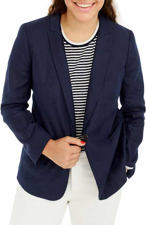 7a9f018af5dec J.Crew Parke Stretch Linen Blend Blazer (Regular   Petite)