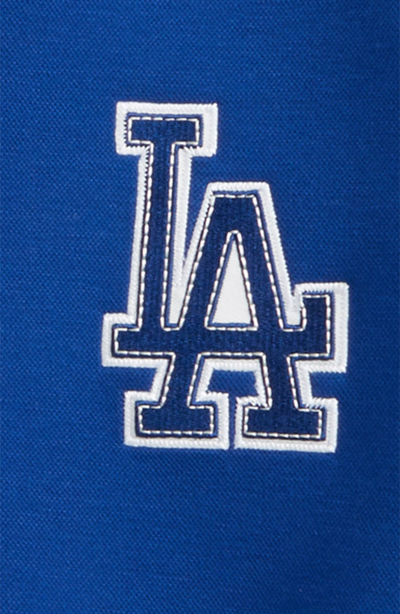 Classical Los Angeles Dodgers Knit Varsity Jacket,                             Alternate thumbnail 2, color,                             Royal