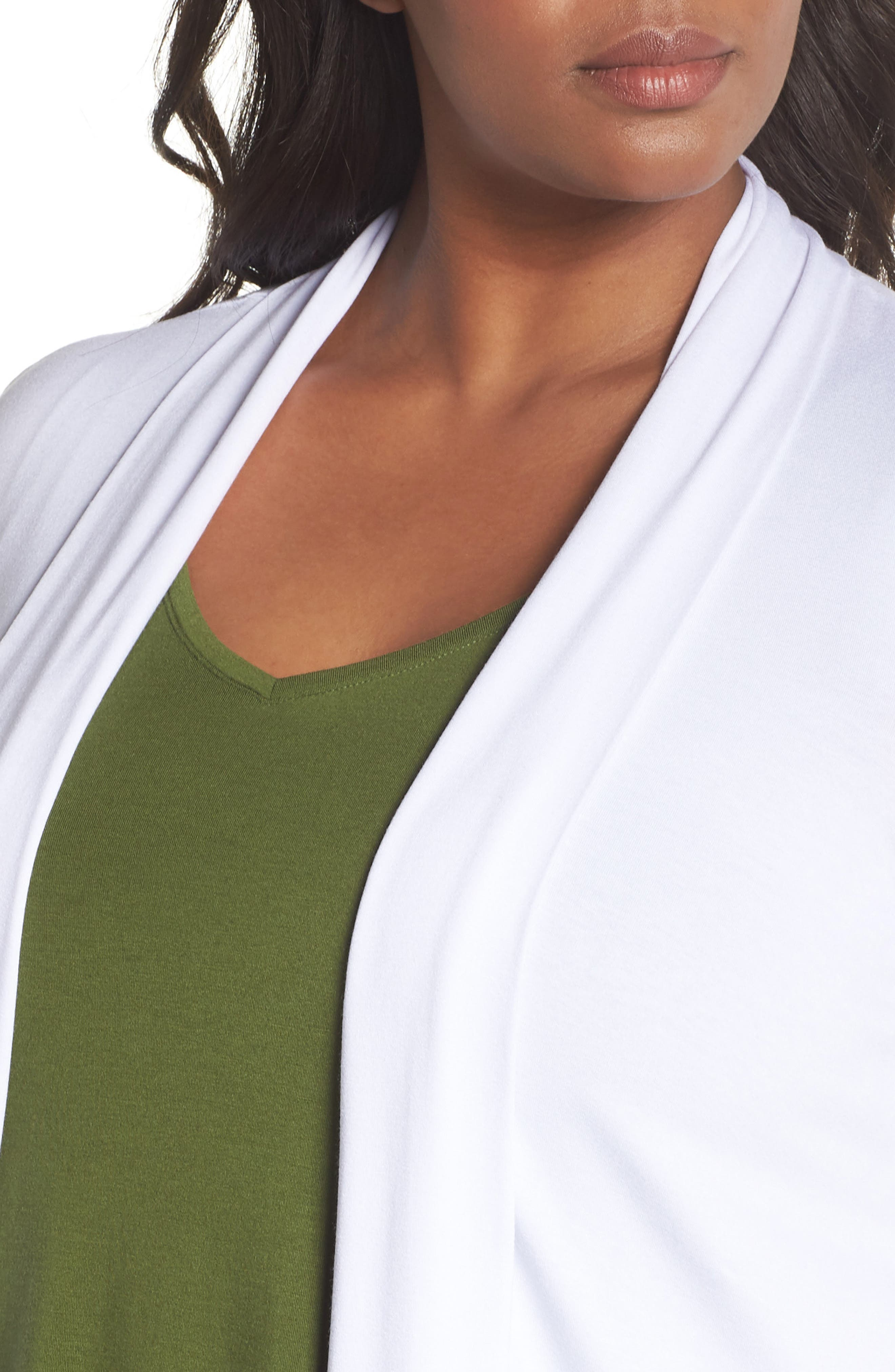 Open Front Cardigan,                             Alternate thumbnail 4, color,                             Ultra White